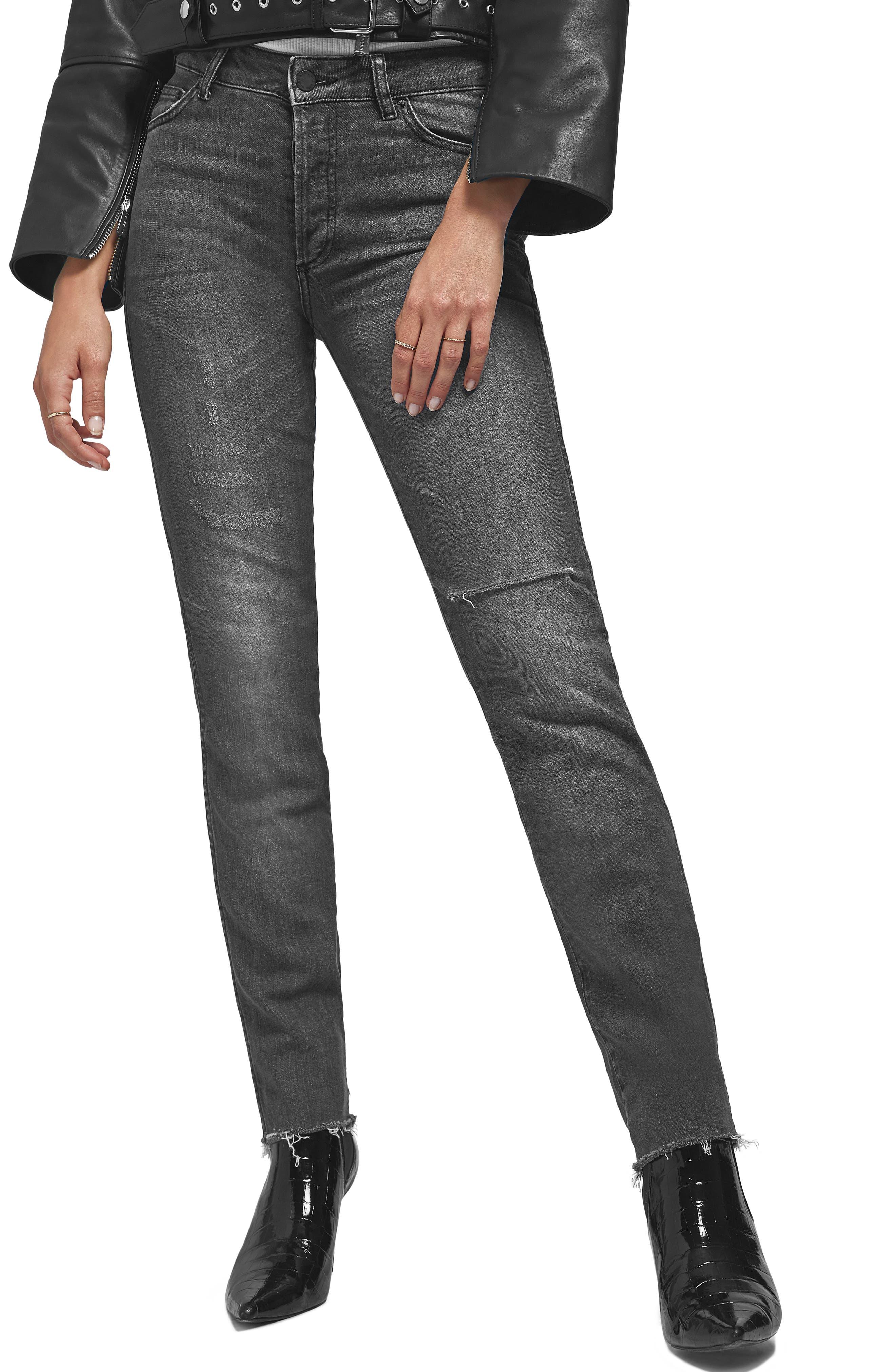 Kara Skinny Jeans,                             Main thumbnail 1, color,                             CHARCOAL