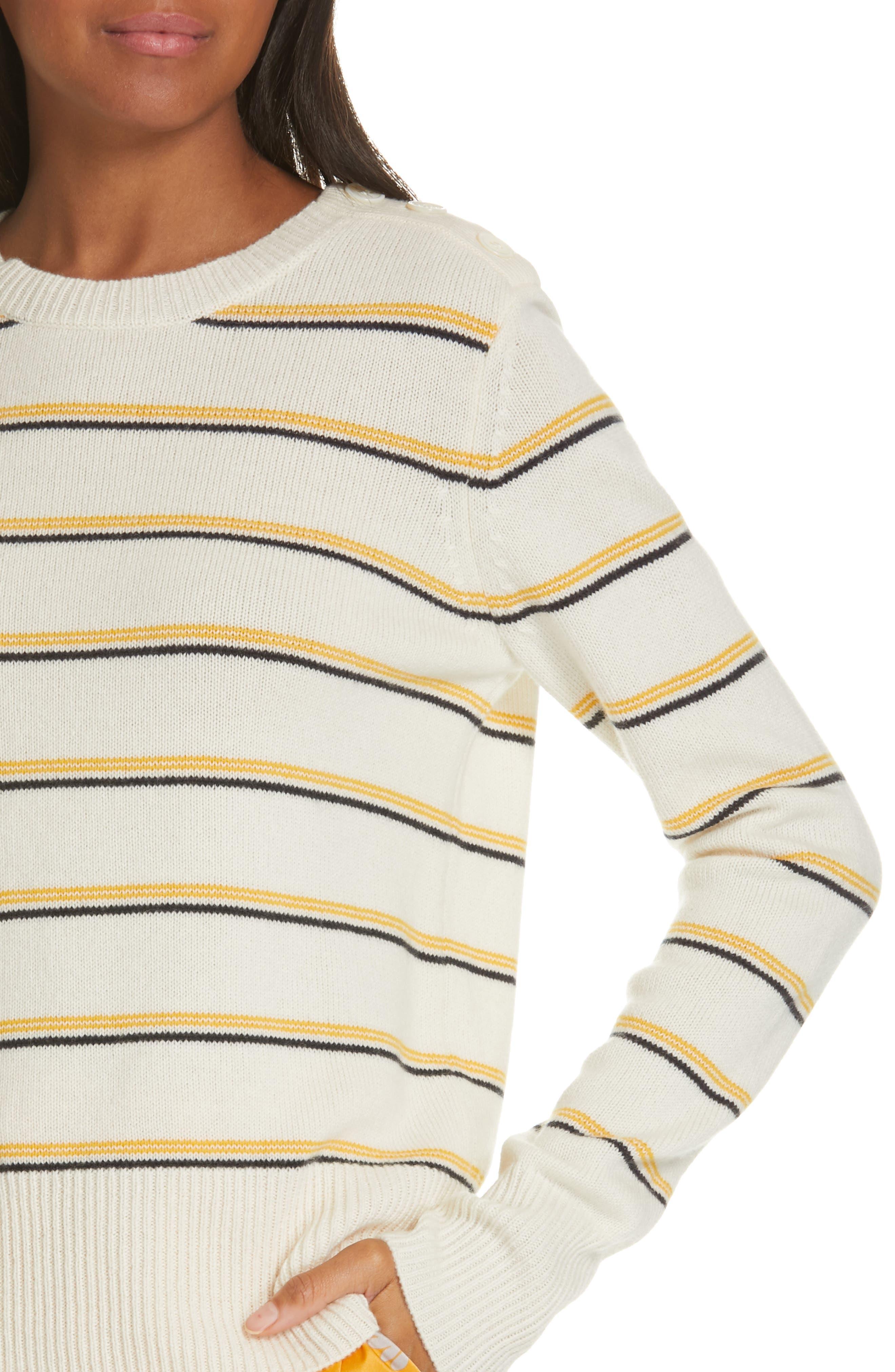 Duru Wool & Cashmere Sweater,                             Alternate thumbnail 4, color,                             NATURE WHITE MULTI