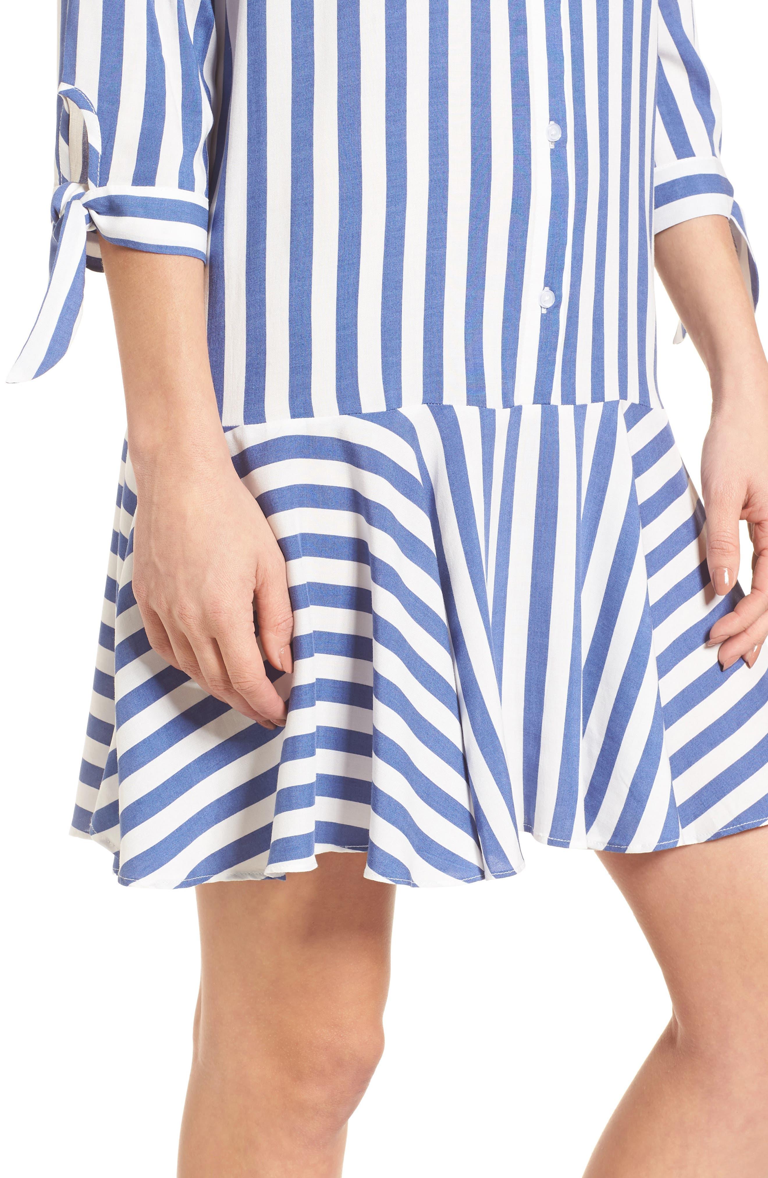 Drop Waist Shirtdress,                             Alternate thumbnail 4, color,                             400