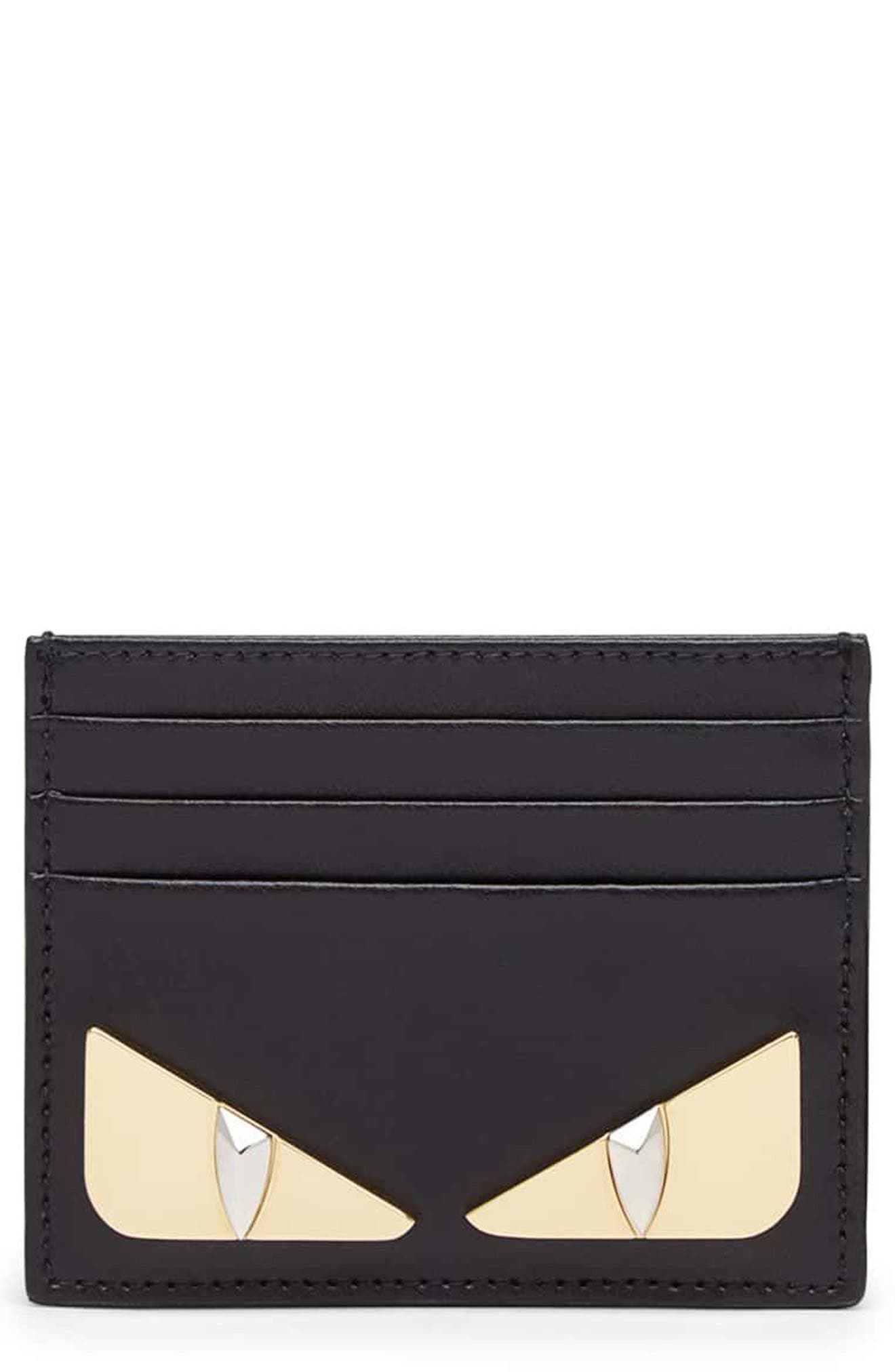 Monster Leather Card Case,                         Main,                         color, 006