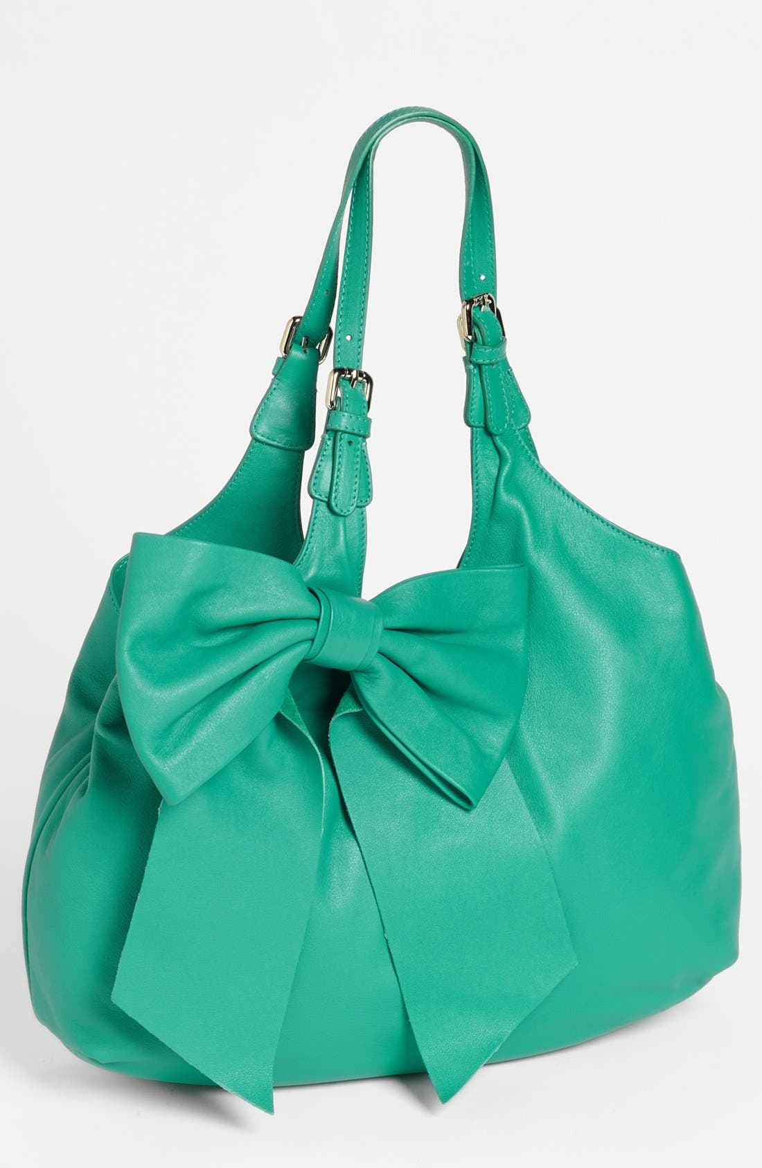 'Bow' Leather Hobo,                             Main thumbnail 3, color,