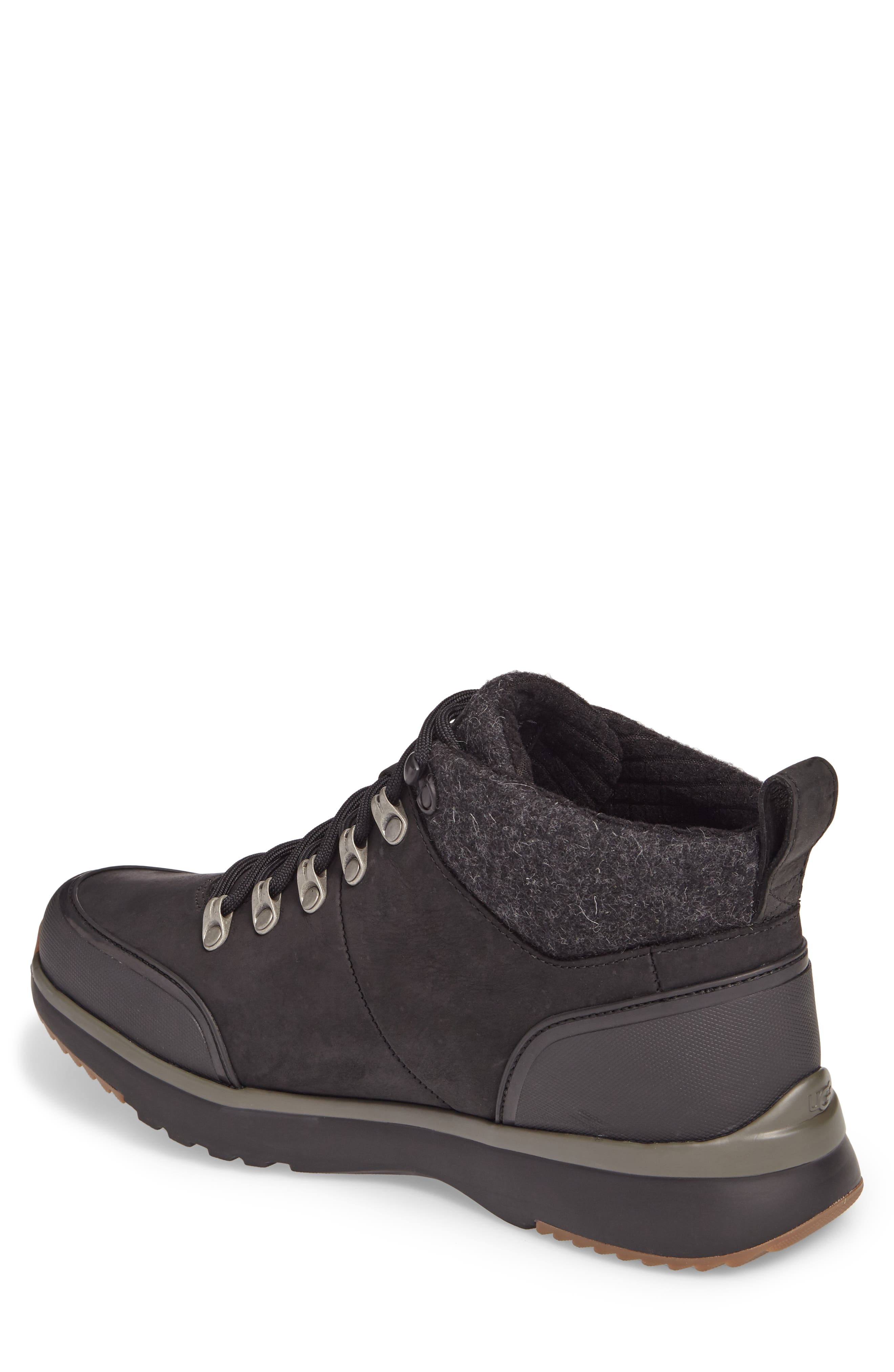 UGG<SUP>®</SUP>,                             Olivert Hiking Waterproof Boot,                             Alternate thumbnail 2, color,                             BLACK