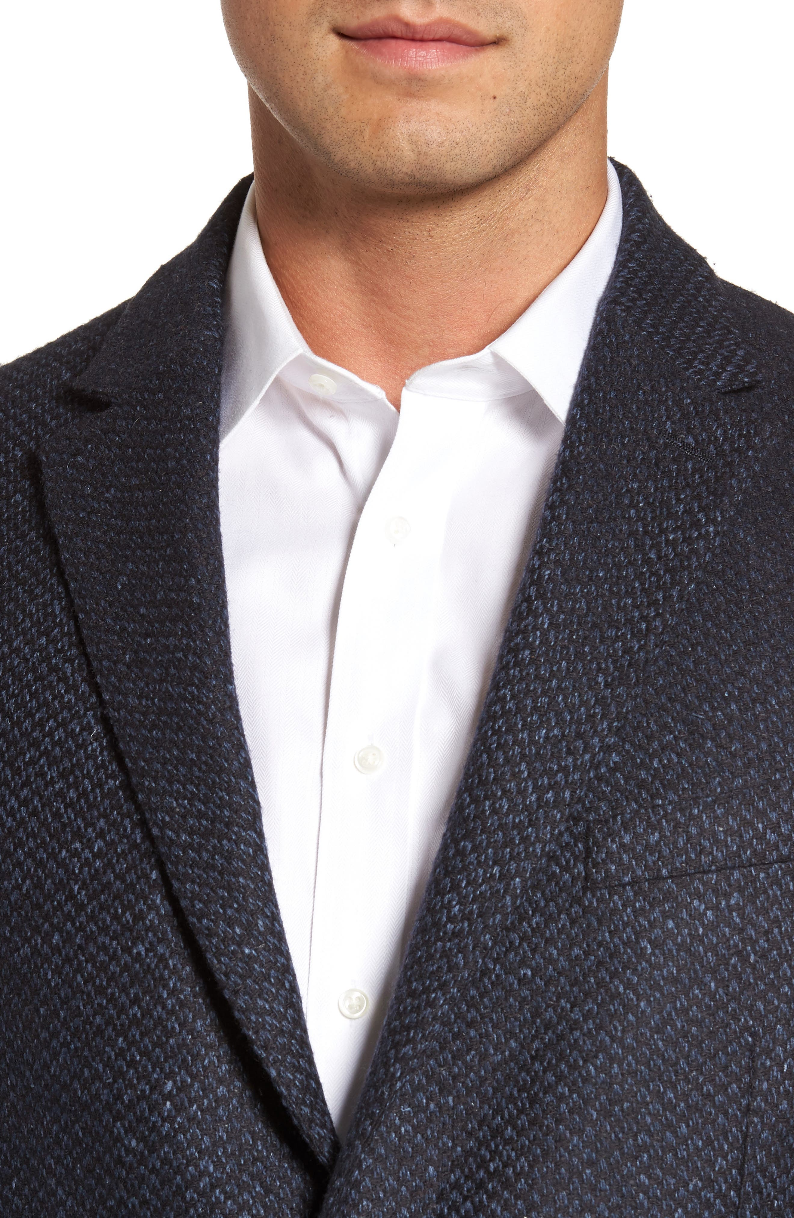 Woven Wool & Silk Blend Sport Coat,                             Alternate thumbnail 4, color,