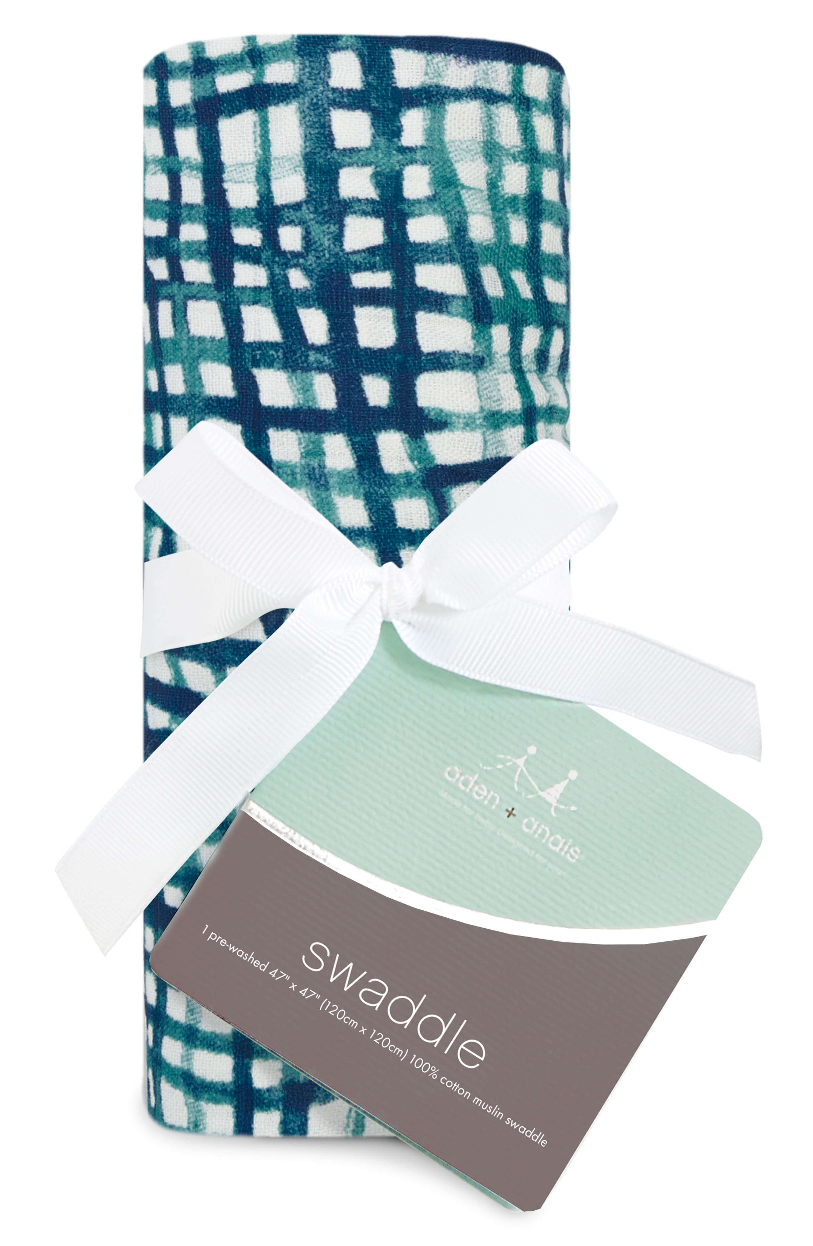 Silky Soft Swaddling Cloth,                             Alternate thumbnail 2, color,                             SEAPORT