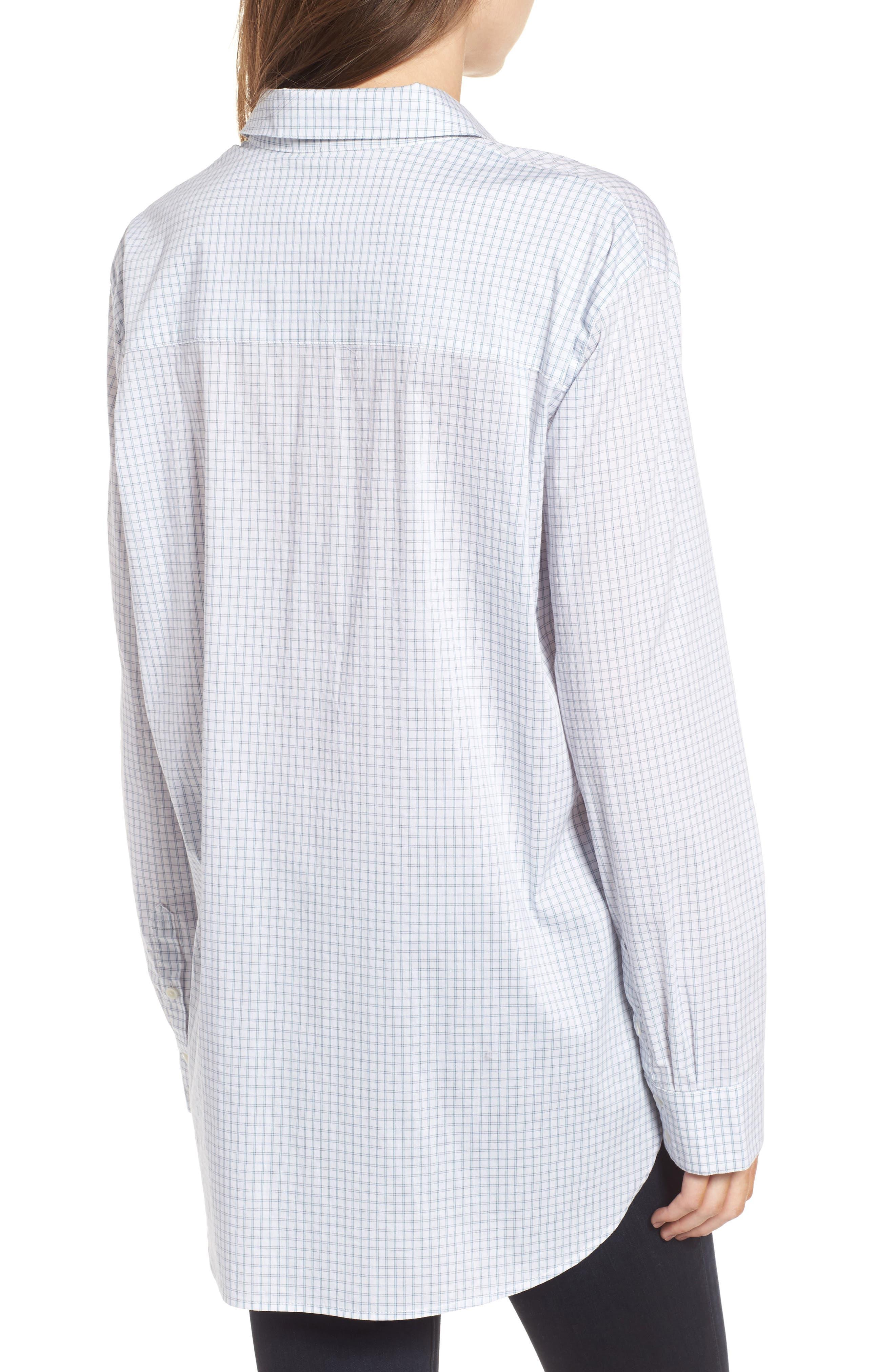 Oversize Check Shirt,                             Alternate thumbnail 2, color,                             100