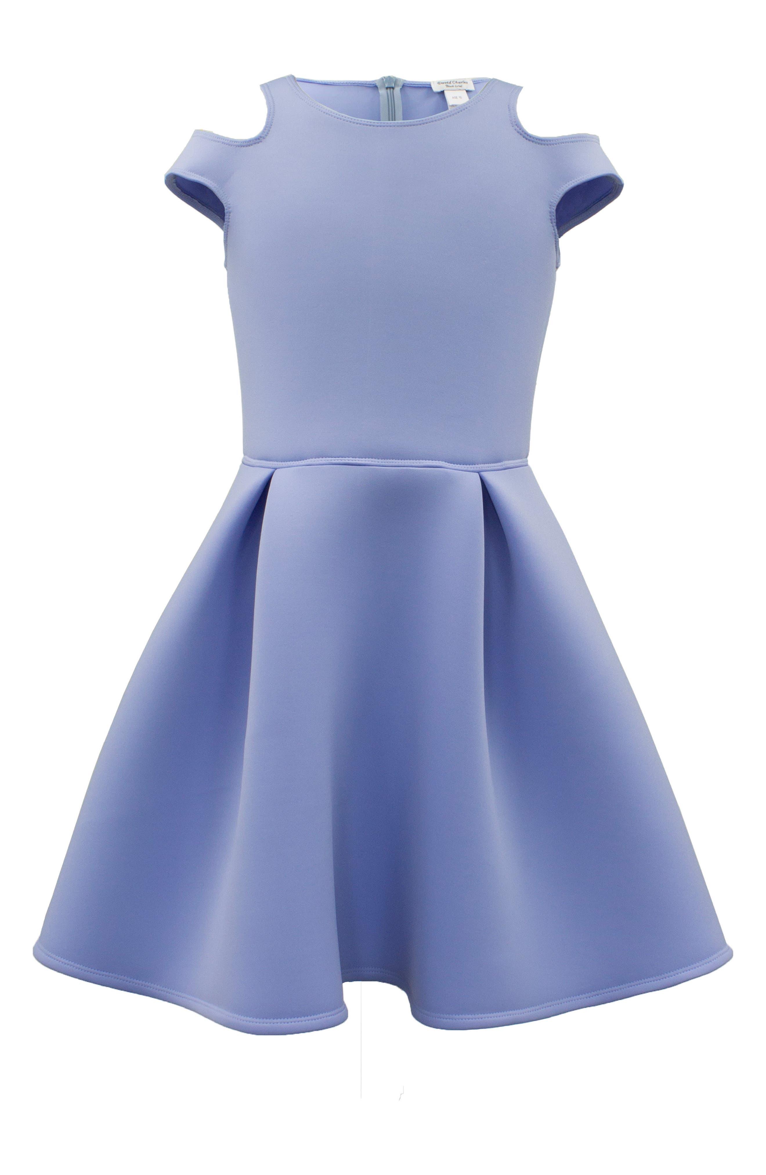 Cold Shoulder Scuba Dress,                             Main thumbnail 1, color,                             420