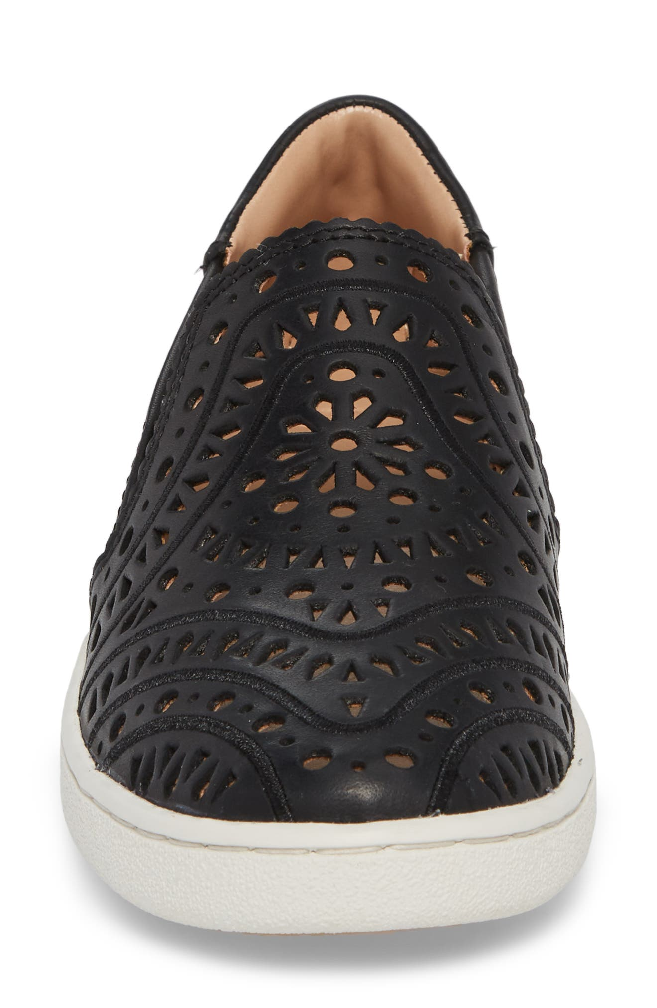 UGG<SUP>®</SUP>,                             Cas Perforated Slip-On Sneaker,                             Alternate thumbnail 4, color,                             001