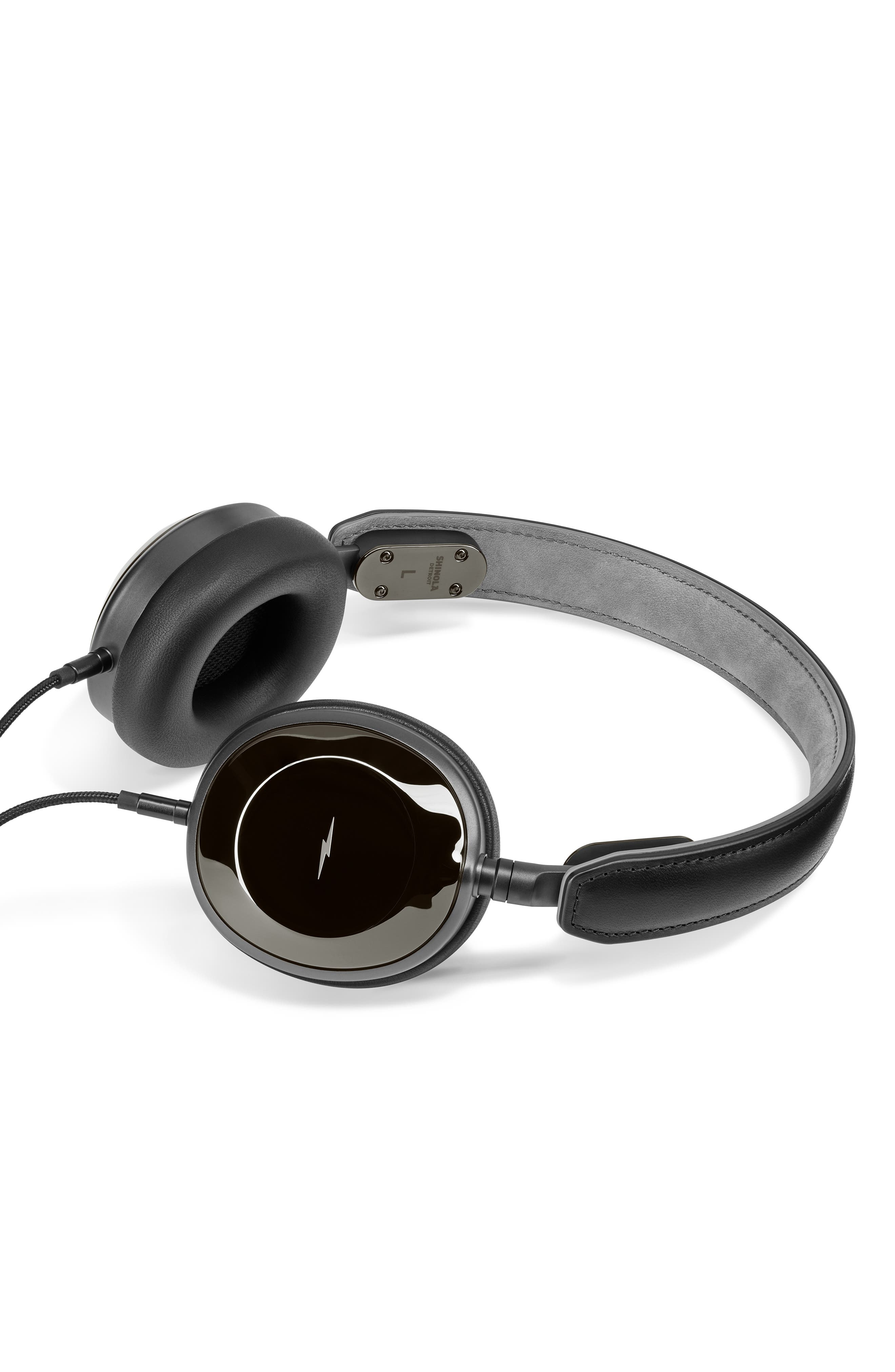 Canfield On-Ear Headphones,                             Alternate thumbnail 3, color,                             GLOSS BLACK