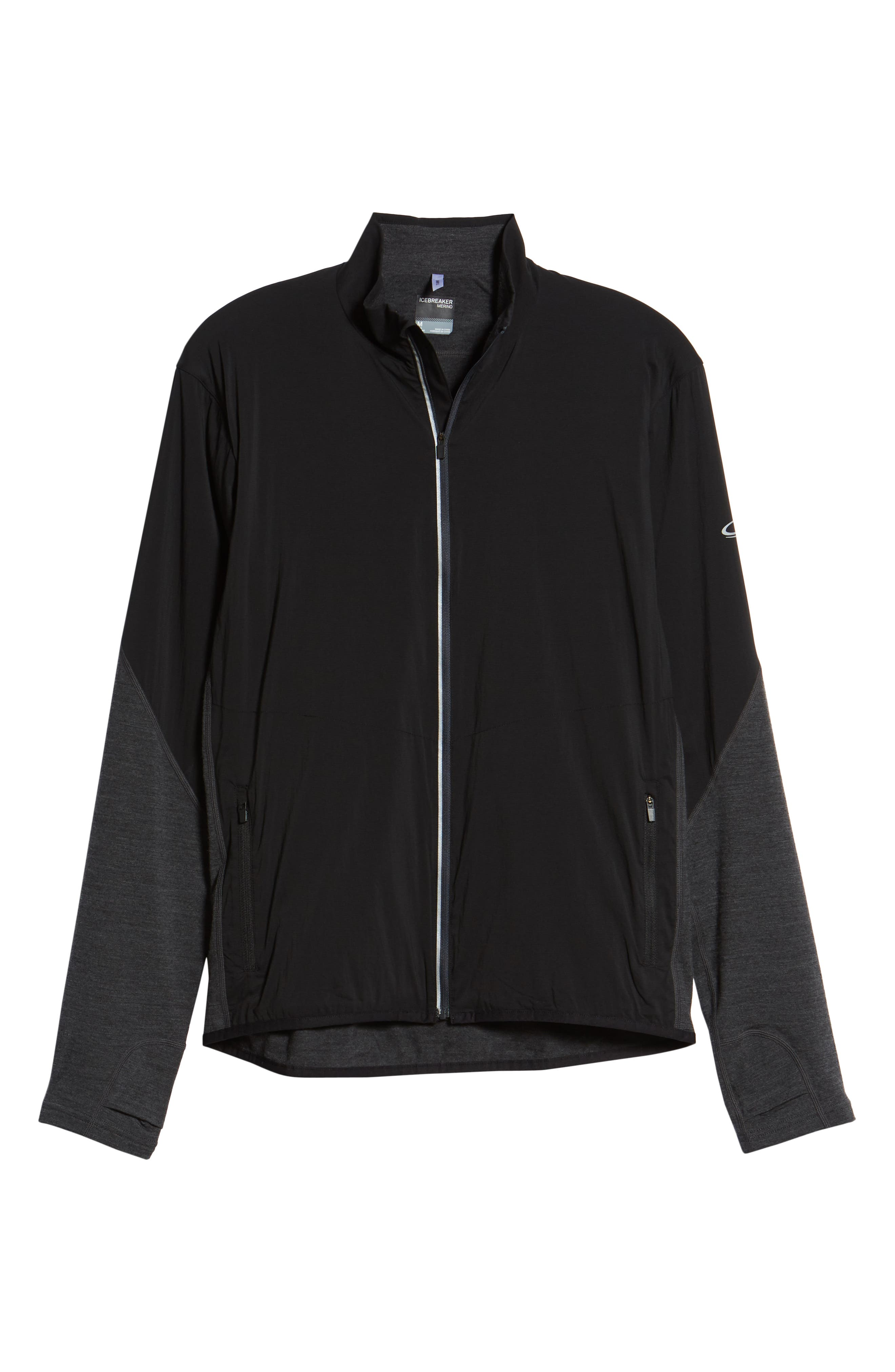 Tech Trainer Hybrid Jacket,                             Alternate thumbnail 5, color,                             BLACK