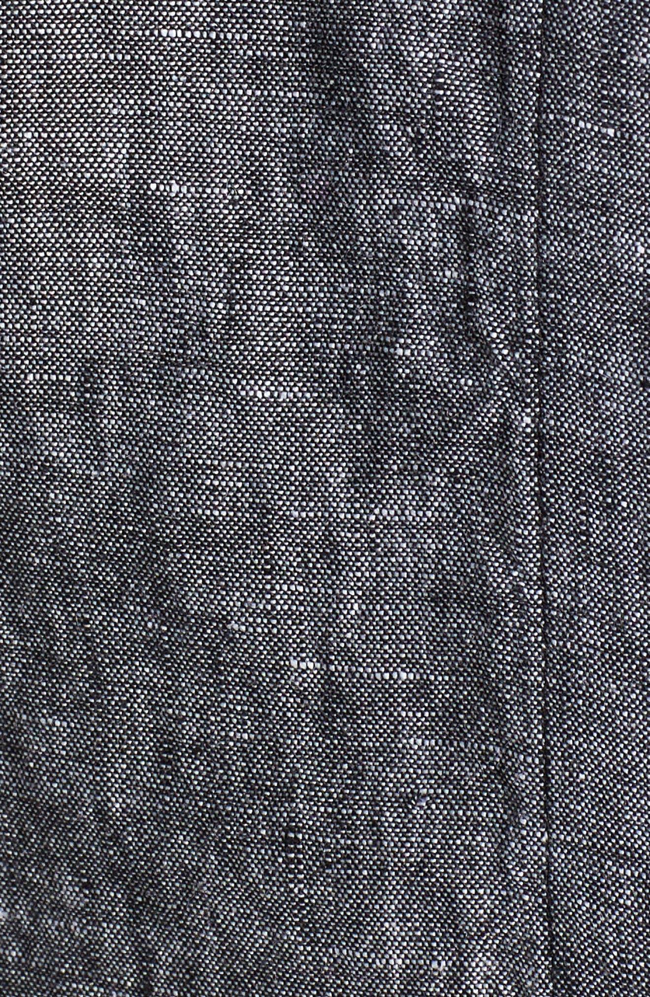 Linen Chambray Shirt,                             Alternate thumbnail 5, color,                             001