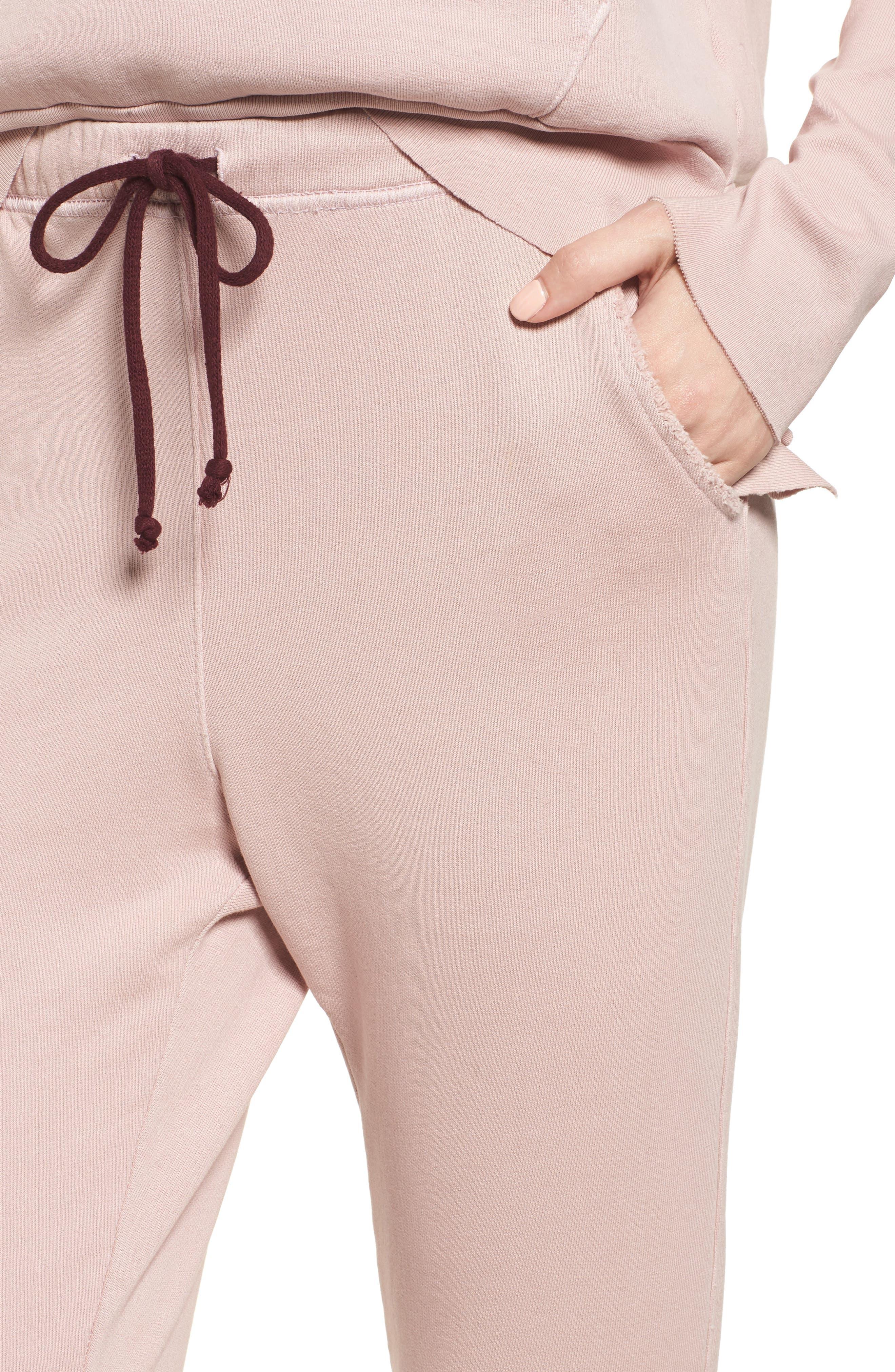 Raw Hem Crop Sweatpants,                             Alternate thumbnail 4, color,                             670