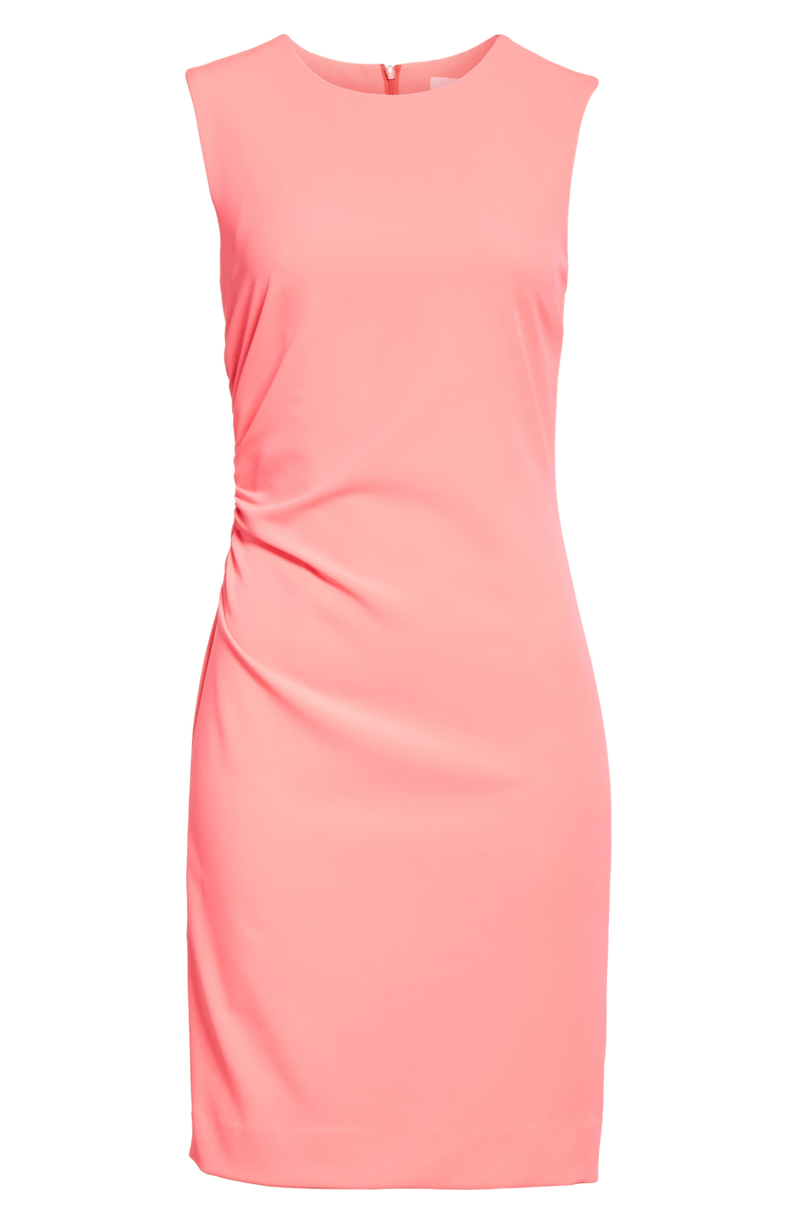 Sherry Ruched Sheath Dress,                             Alternate thumbnail 6, color,                             677