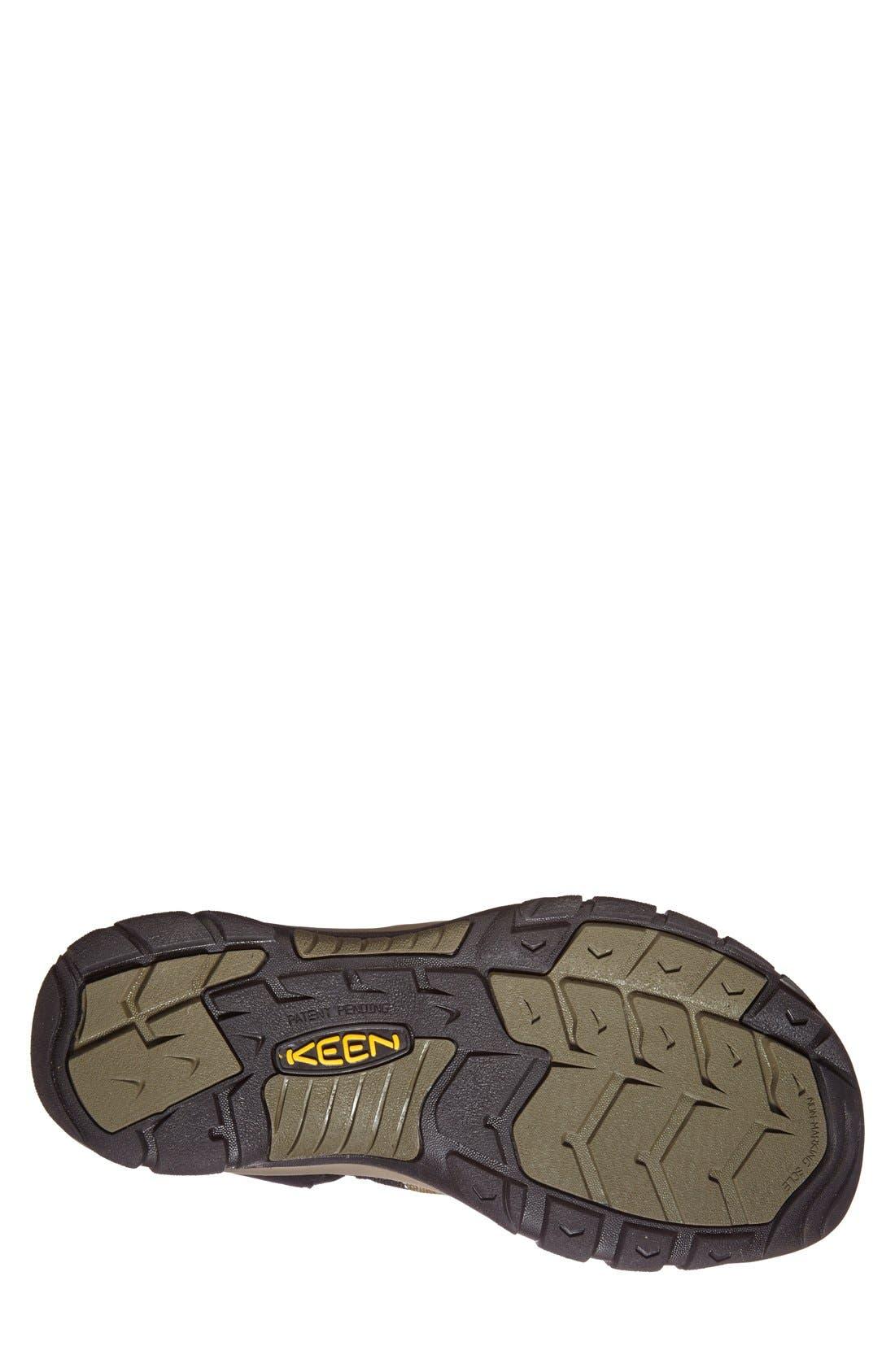 'Newport H2' Sandal,                             Alternate thumbnail 3, color,                             BLACK/ STONE GREY