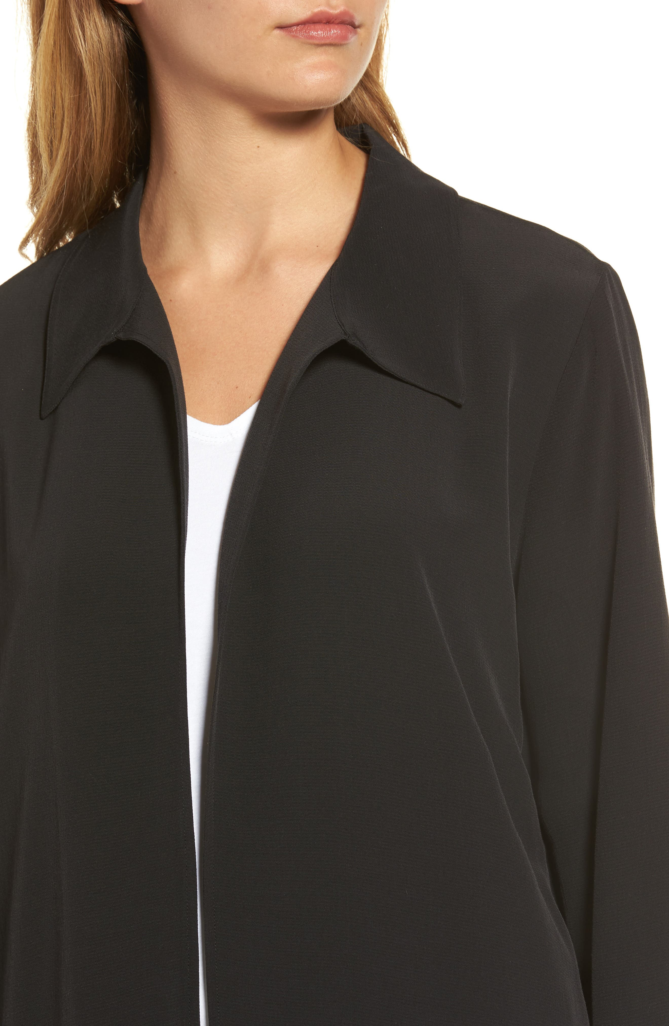 Open Front Duster Jacket,                             Alternate thumbnail 4, color,                             001