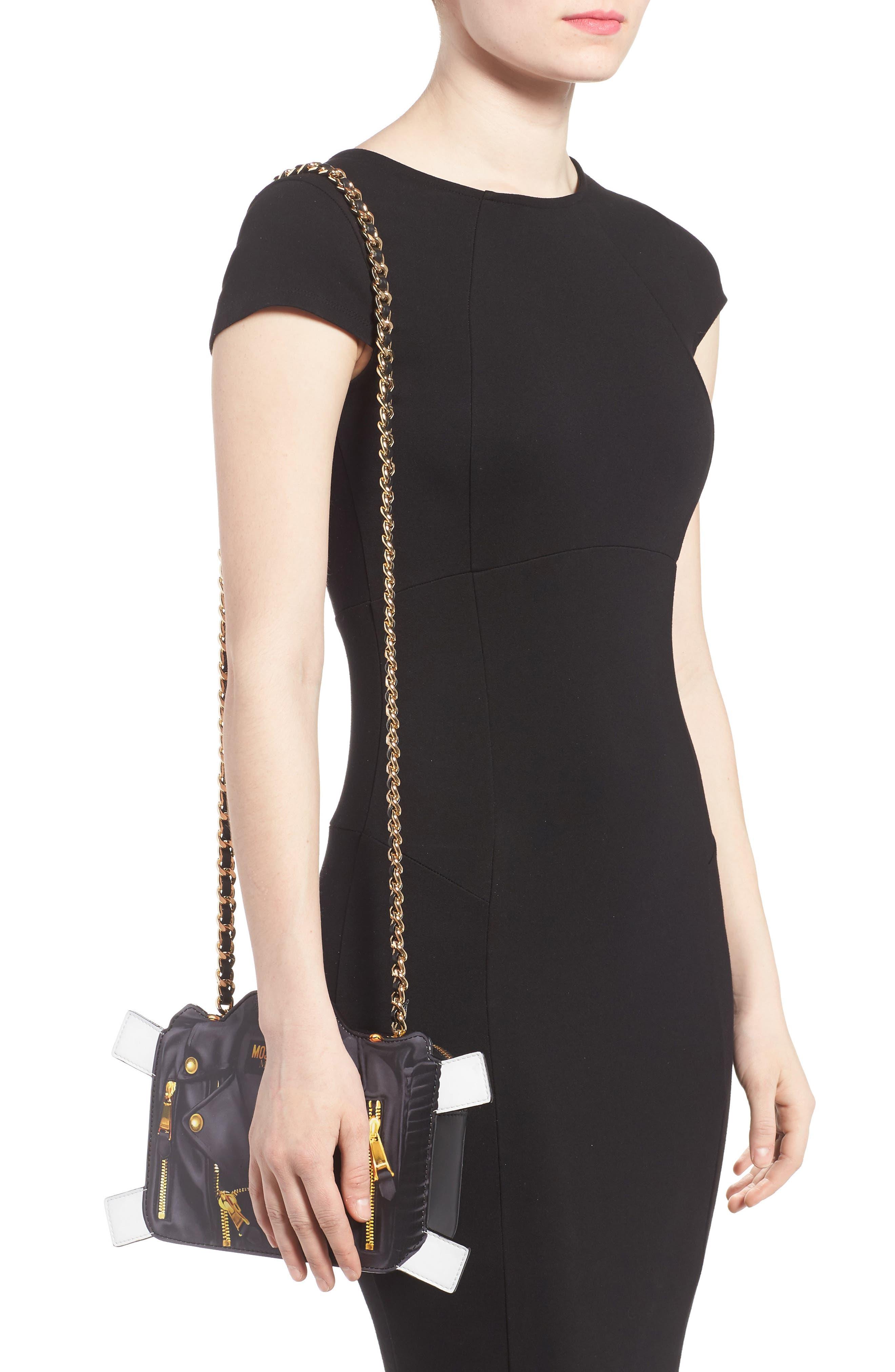 Paper Doll Biker Leather Shoulder Bag,                             Alternate thumbnail 2, color,