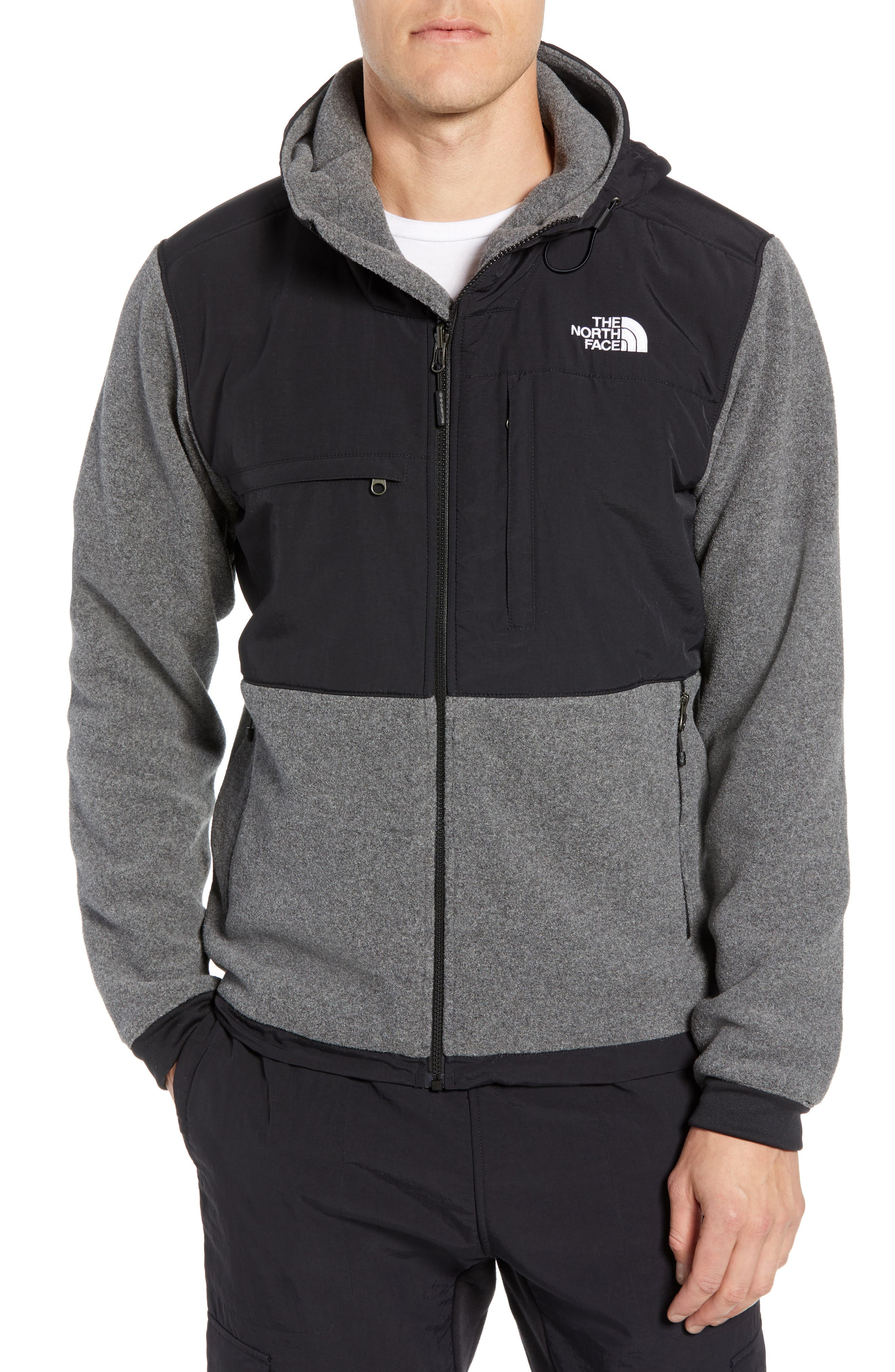 Denali 2 Hooded Jacket,                         Main,                         color, RECYCLED CHARCOAL GREY HEATHER