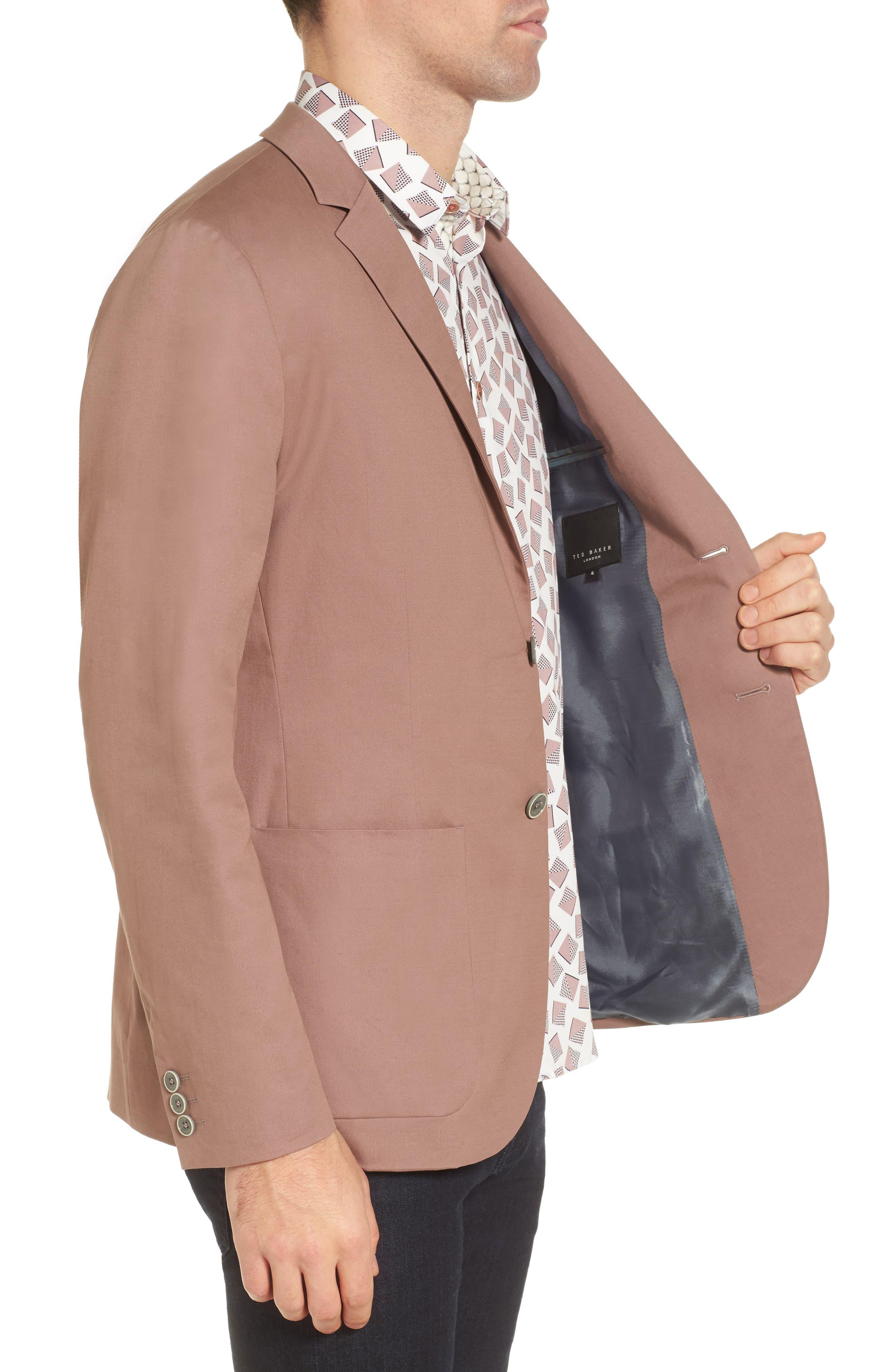 Cliford Trim Fit Stretch Cotton Blazer,                             Alternate thumbnail 9, color,