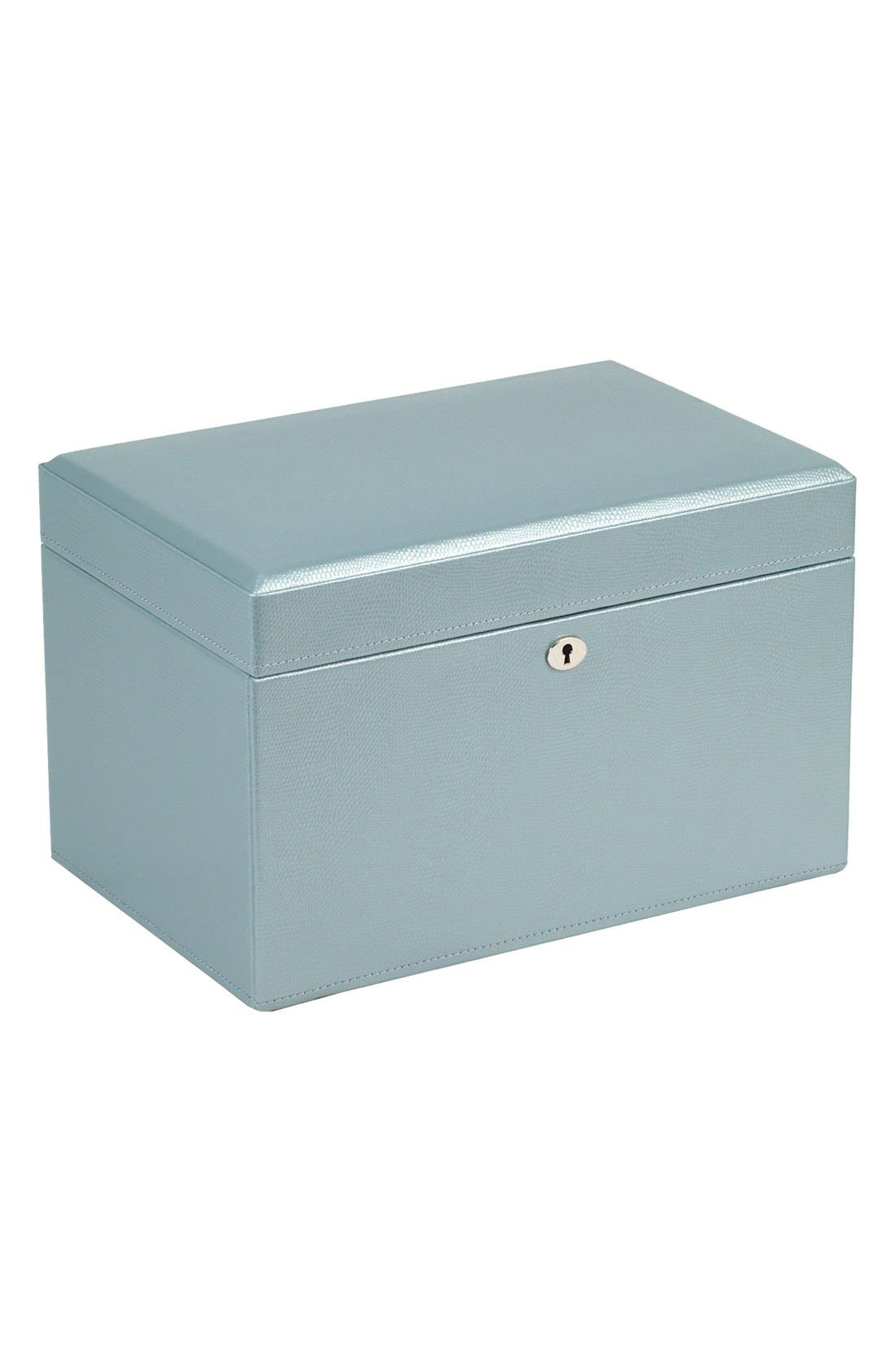 London Medium Jewelry Box,                             Alternate thumbnail 4, color,                             ICE BLUE
