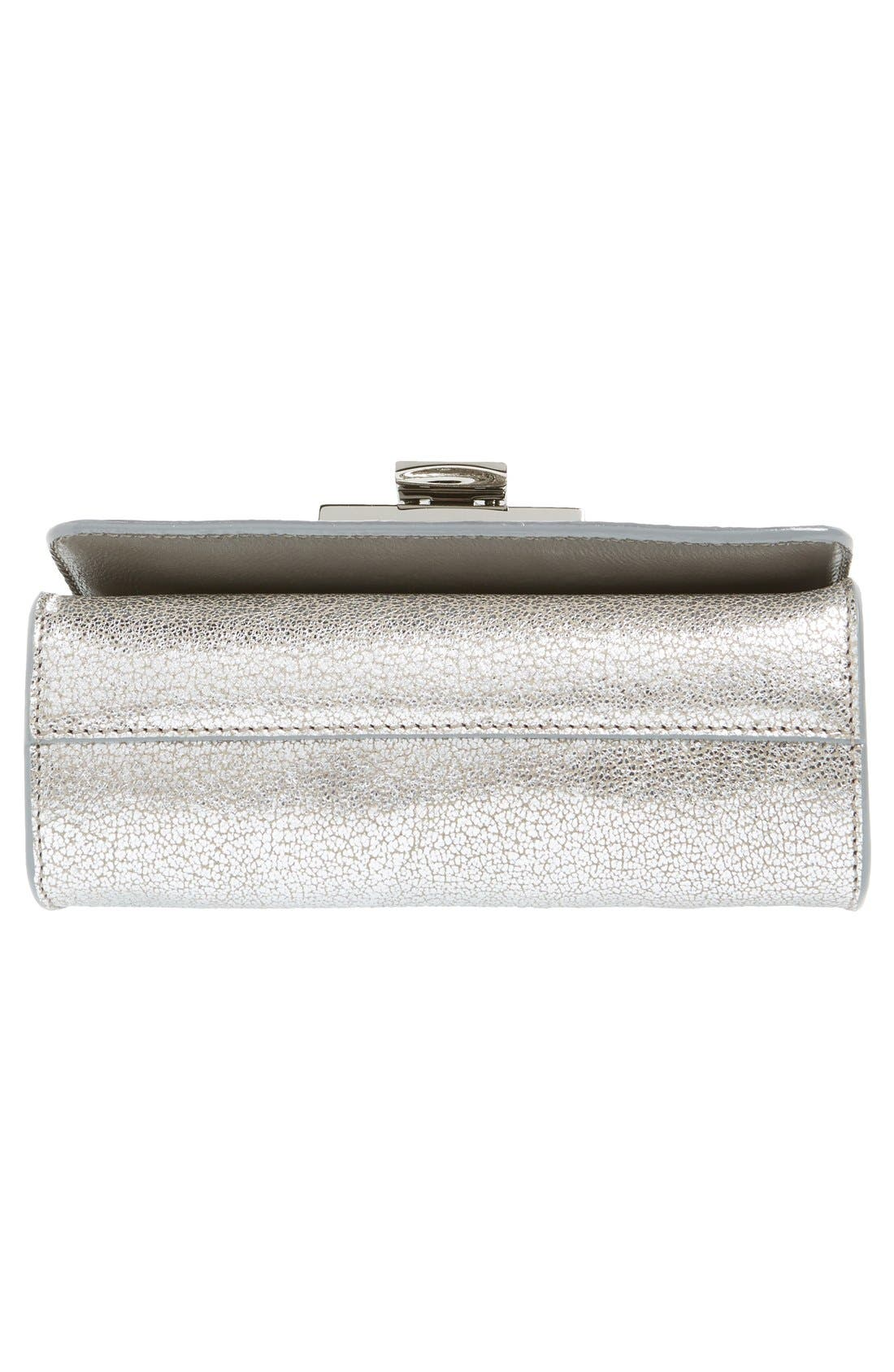 Rebel Mini Metallic Leather Crossbody Bag,                             Alternate thumbnail 6, color,                             040