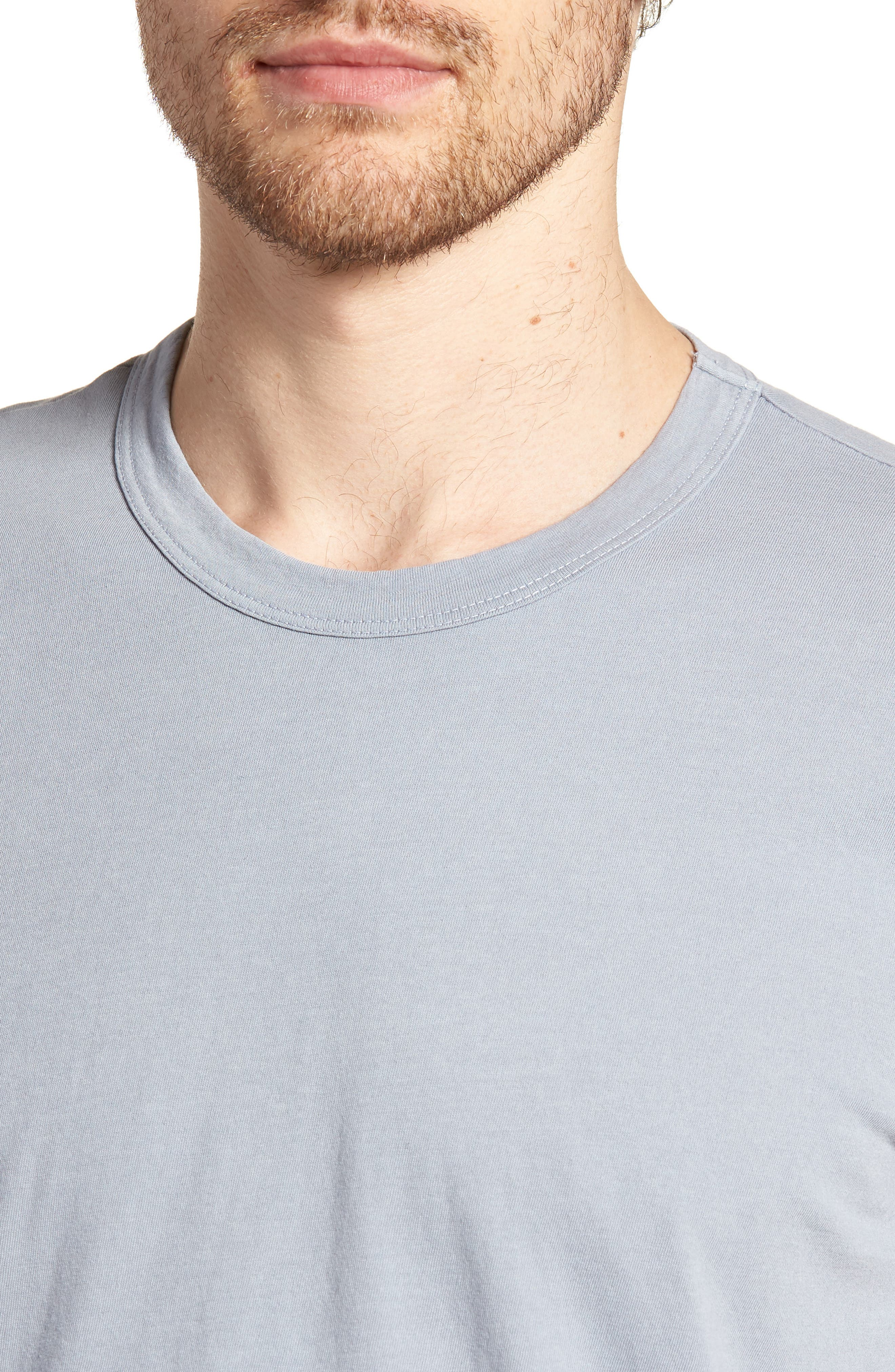 Checkerboard Crewneck T-Shirt,                             Alternate thumbnail 4, color,                             053