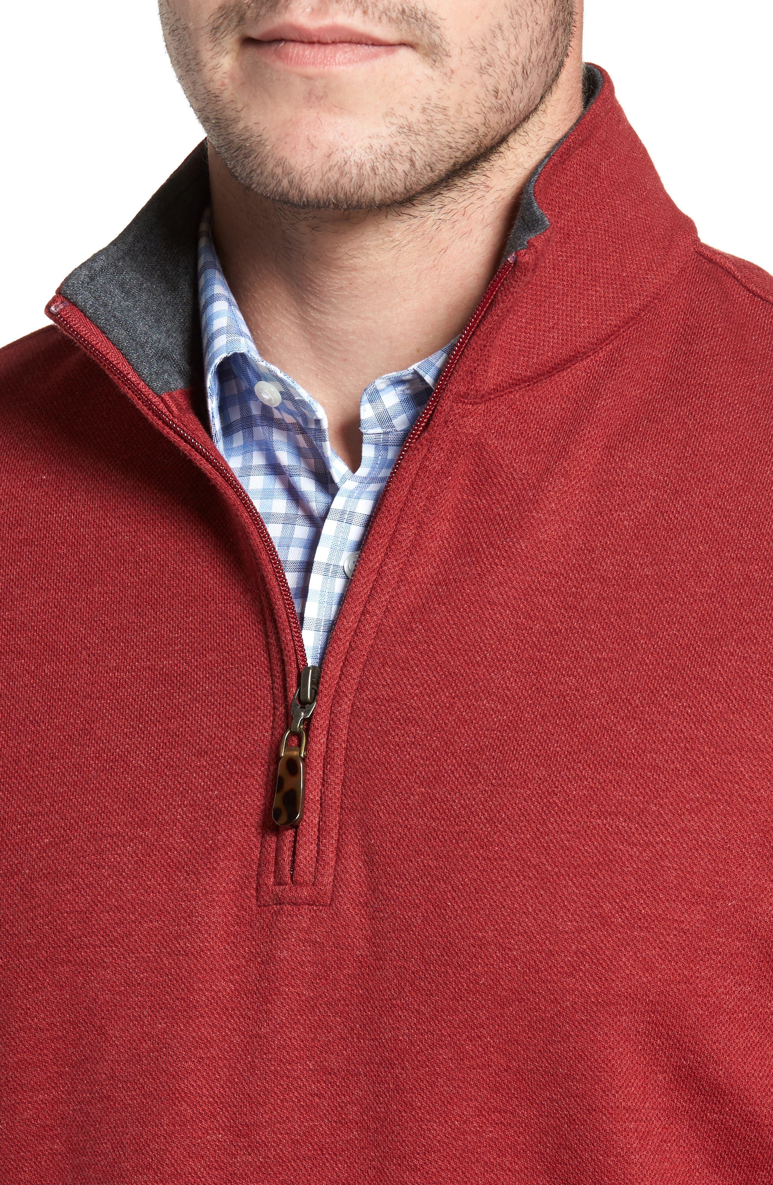 Mélange Quarter Zip Pullover,                             Alternate thumbnail 12, color,