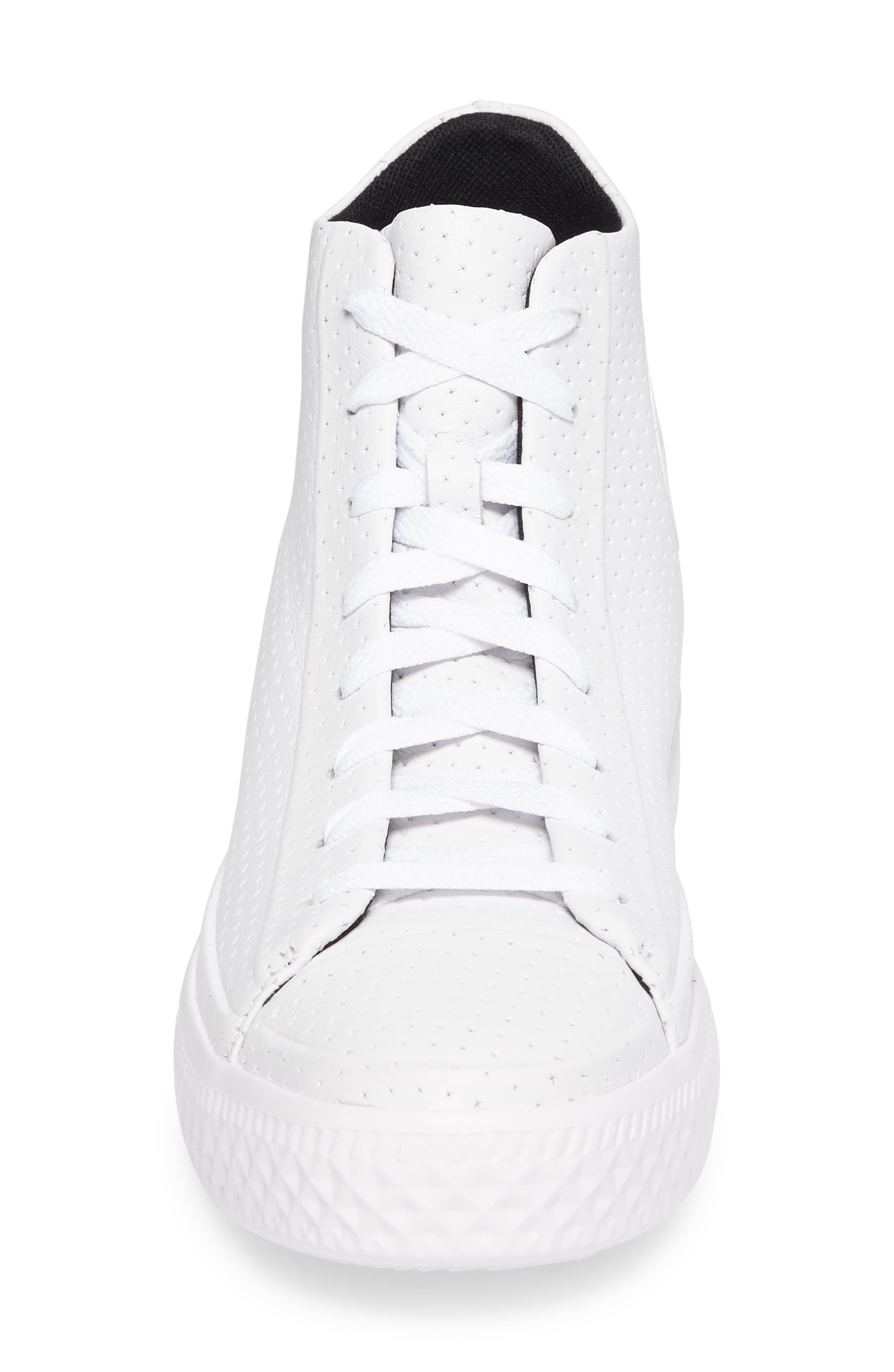 Chuck Taylor<sup>®</sup> All-Star<sup>®</sup> Leather Sneaker,                             Alternate thumbnail 4, color,                             100