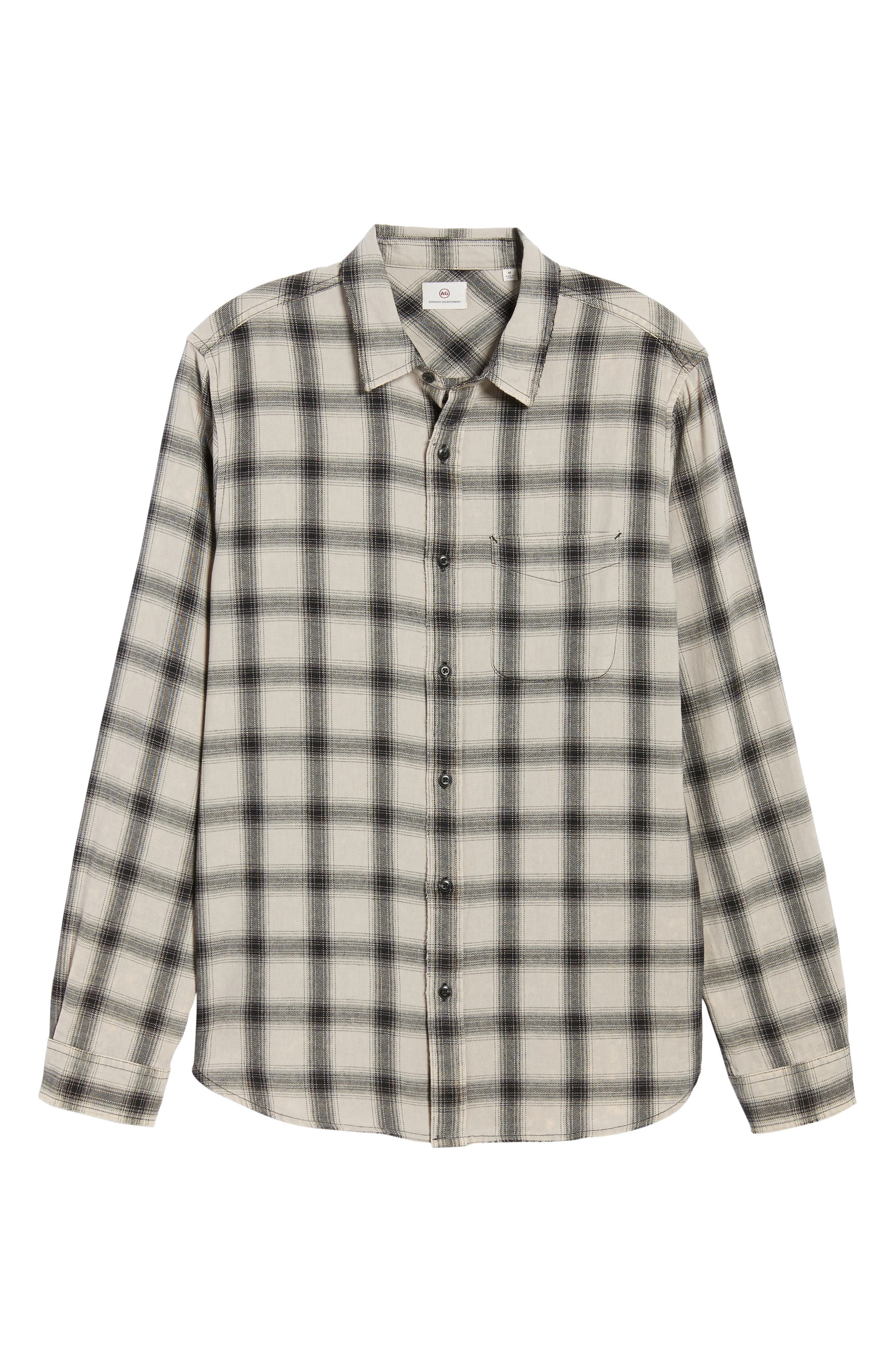 Colton Slim Fit Plaid Sport Shirt,                             Alternate thumbnail 6, color,                             250