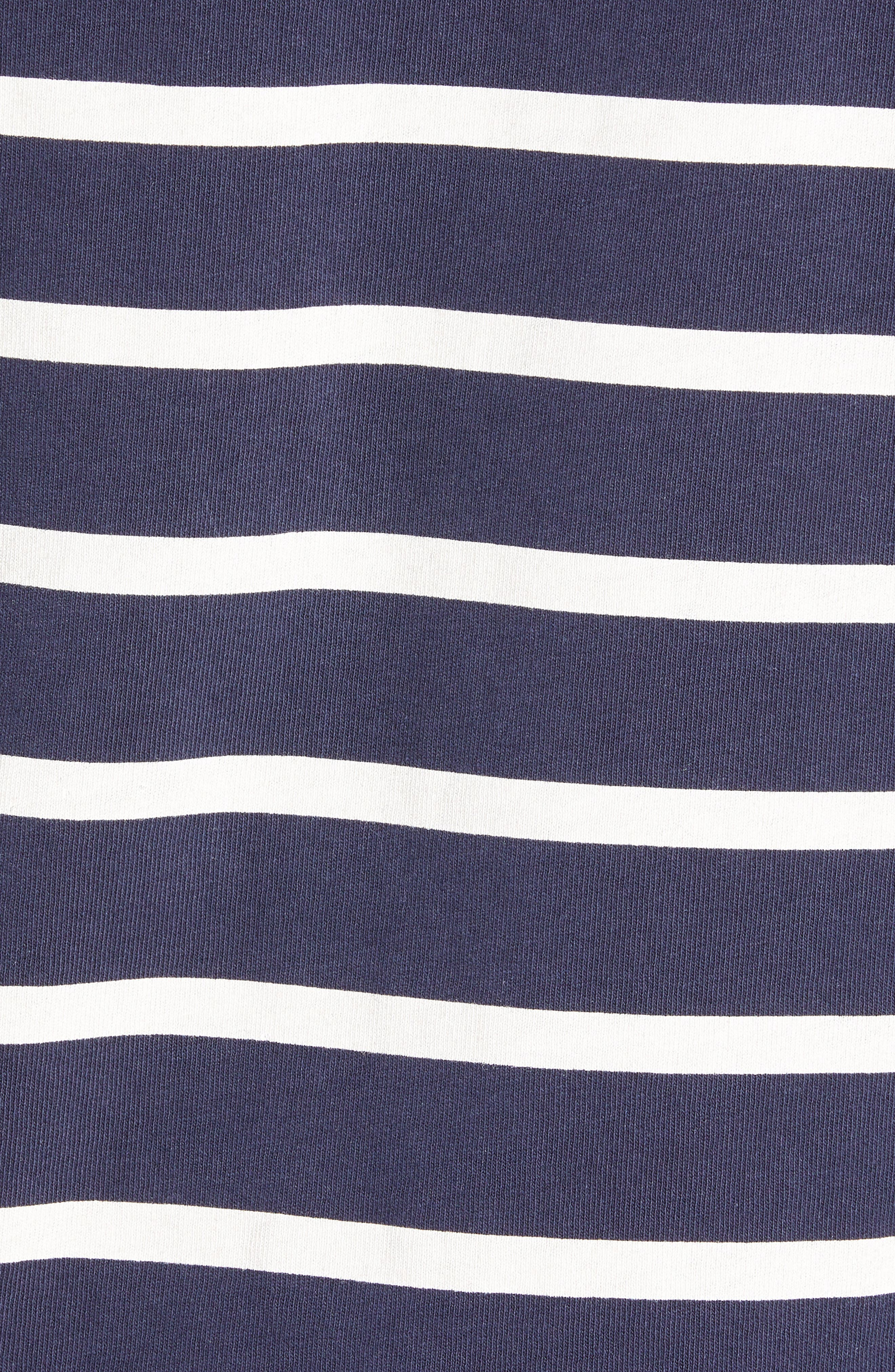 Mow Stripe Logo T-Shirt,                             Alternate thumbnail 5, color,                             SARTHO BLUE/ WHITE