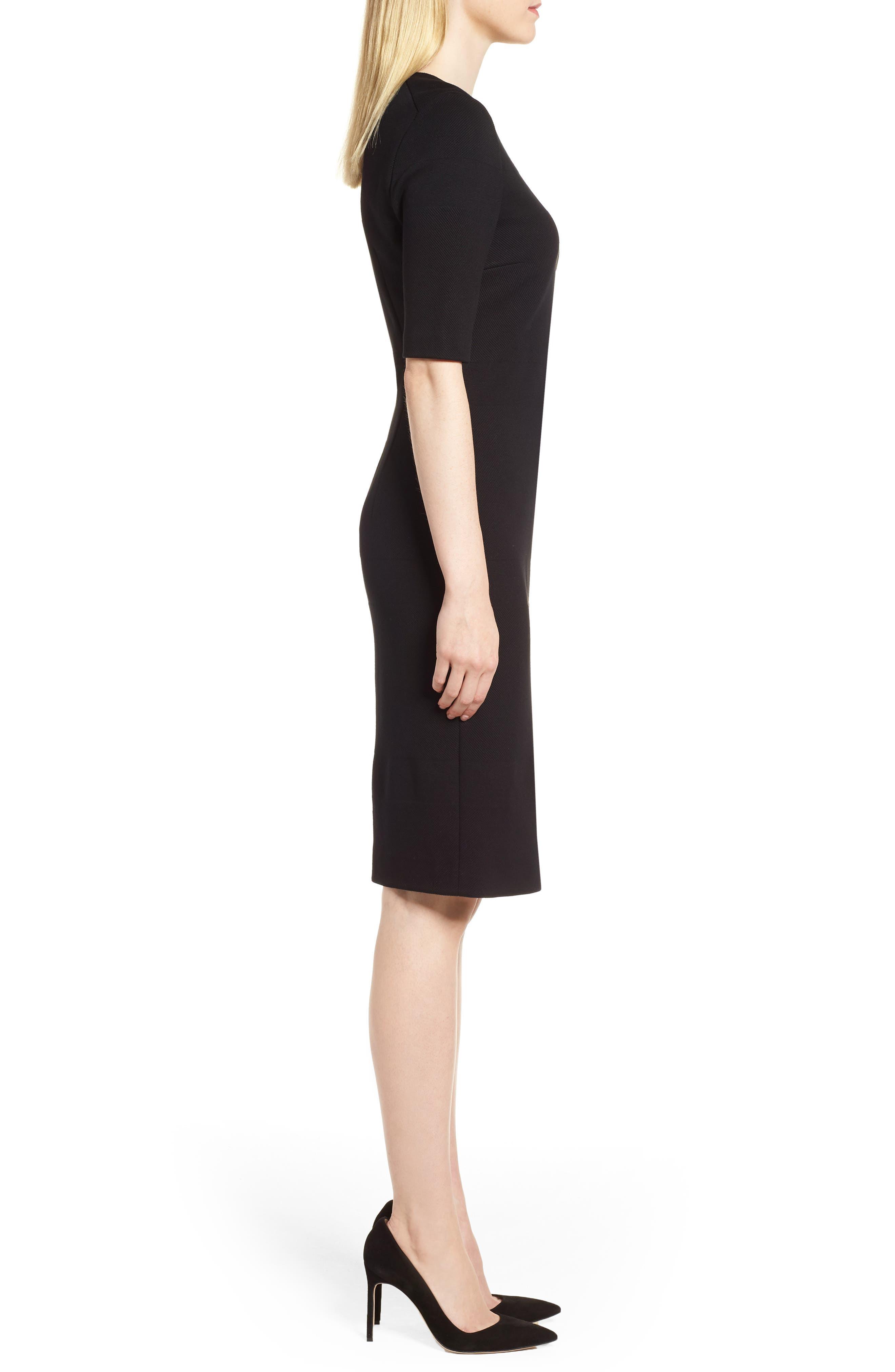 Hibela Sheath Dress,                             Alternate thumbnail 3, color,                             006