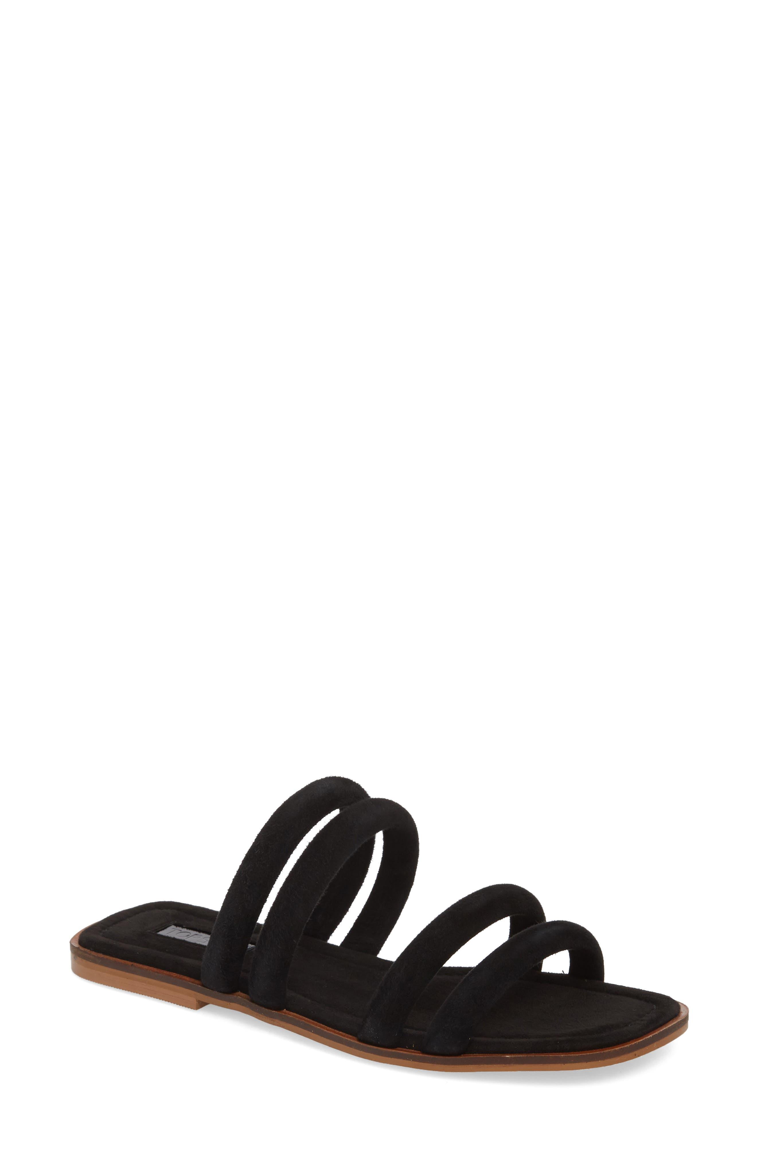 Fever Strappy Sandal,                         Main,                         color, 001