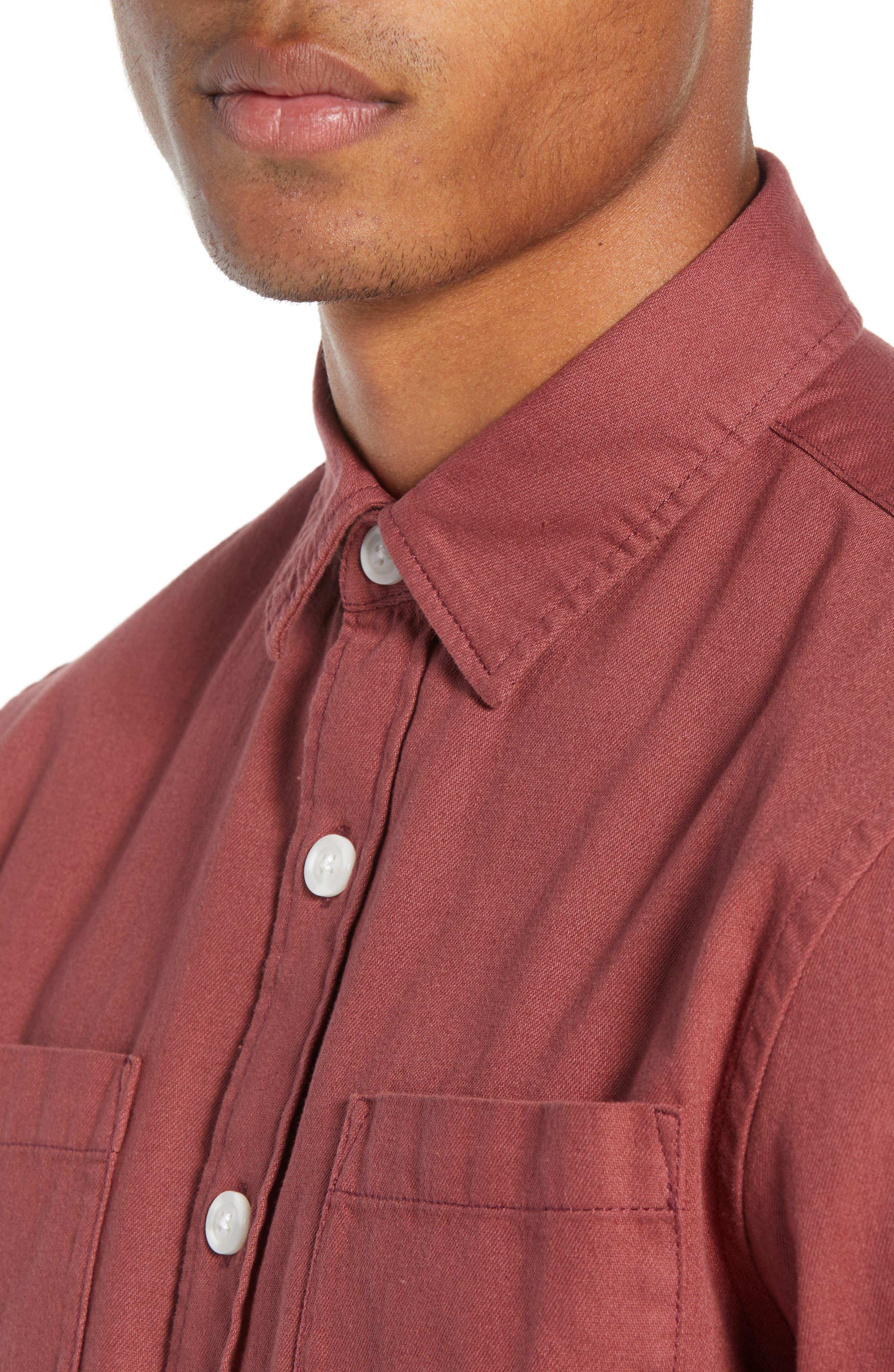 Nolan Washed Denim Sport Shirt,                             Alternate thumbnail 2, color,                             LIGHT PLUM