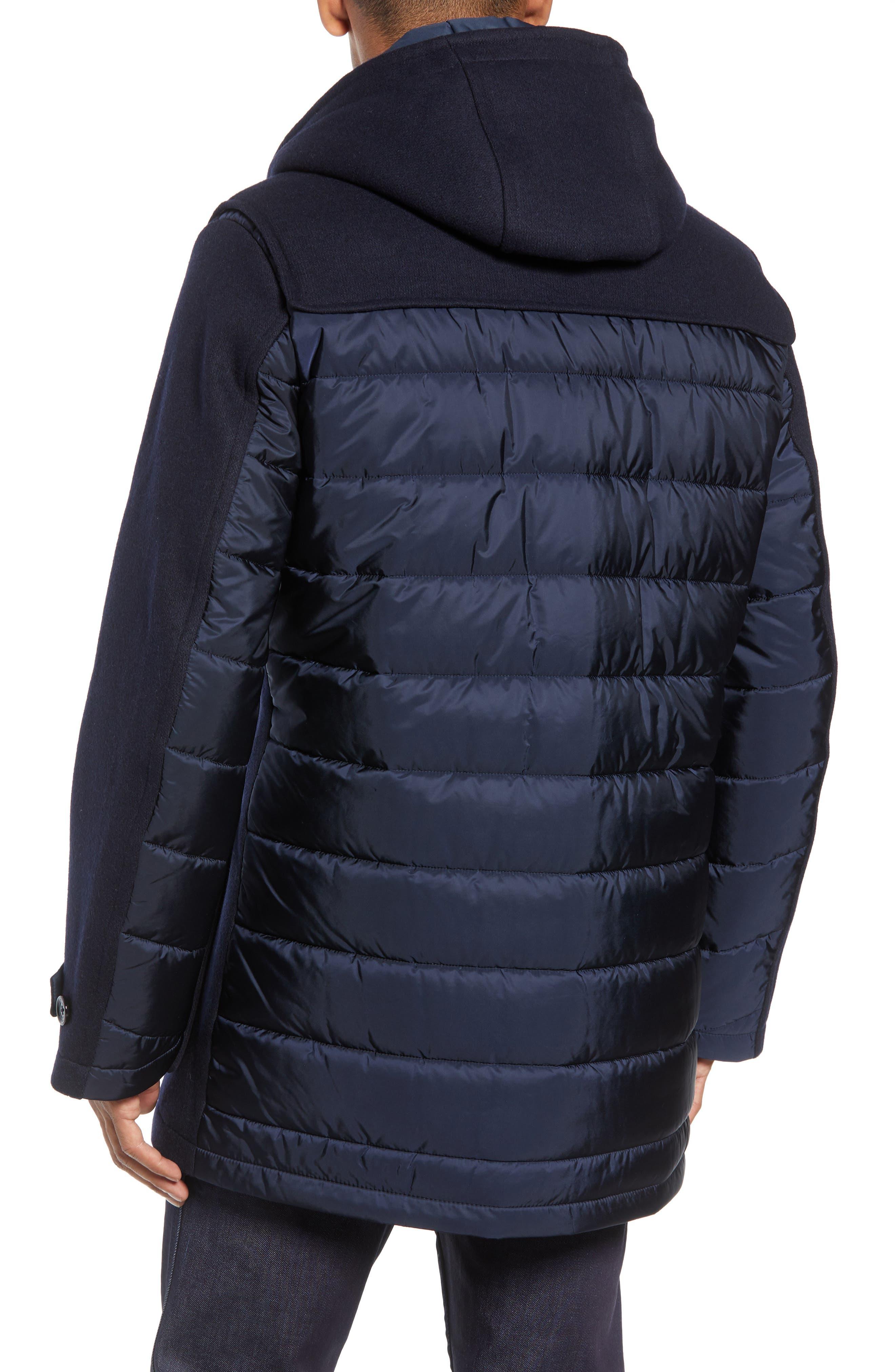 Casil Mixed Media Duffle Coat,                             Alternate thumbnail 2, color,                             BLUE