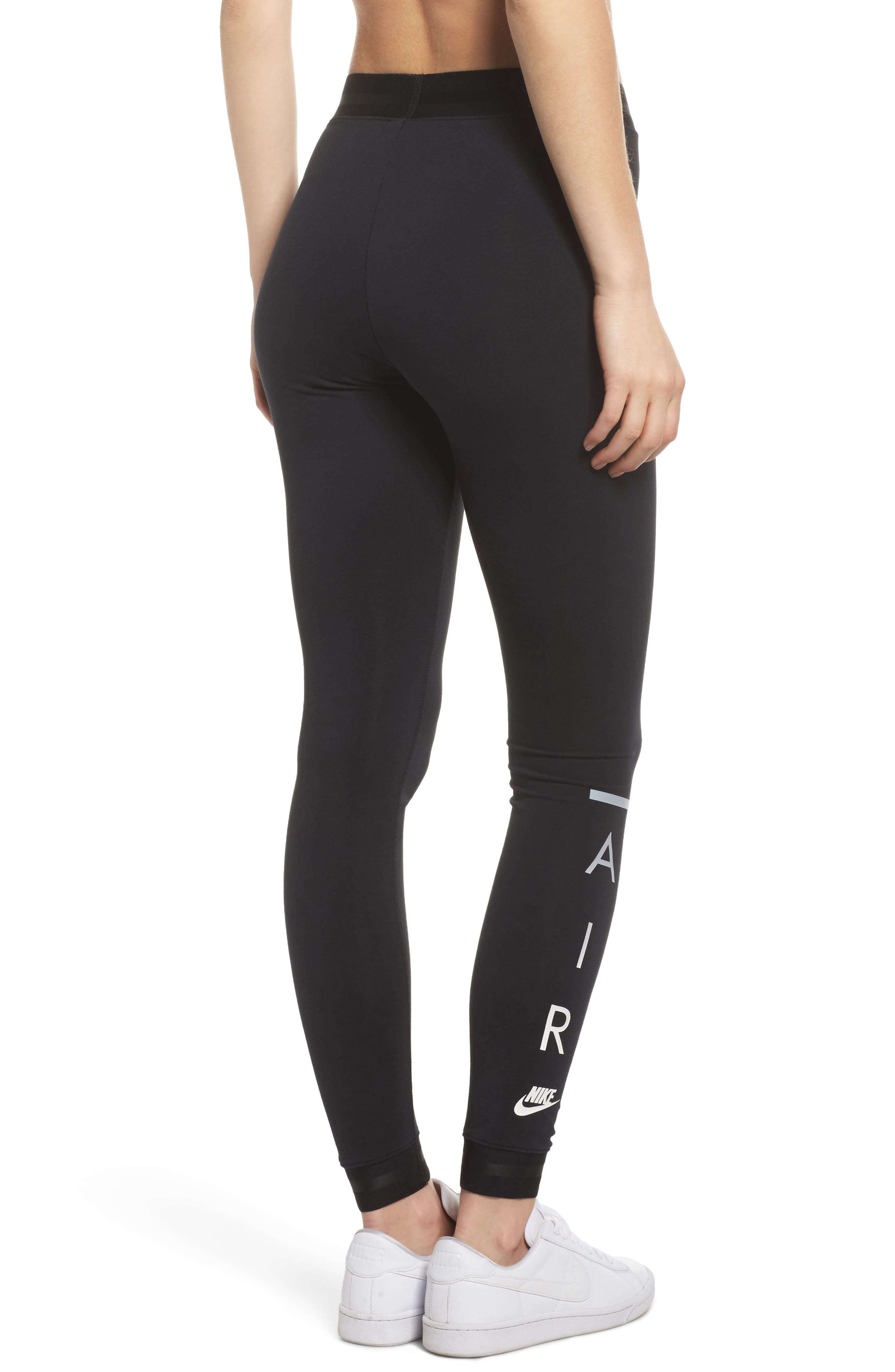 Sportswear Women's Leggings,                             Alternate thumbnail 4, color,                             BLACK/ BLACK/ BLACK