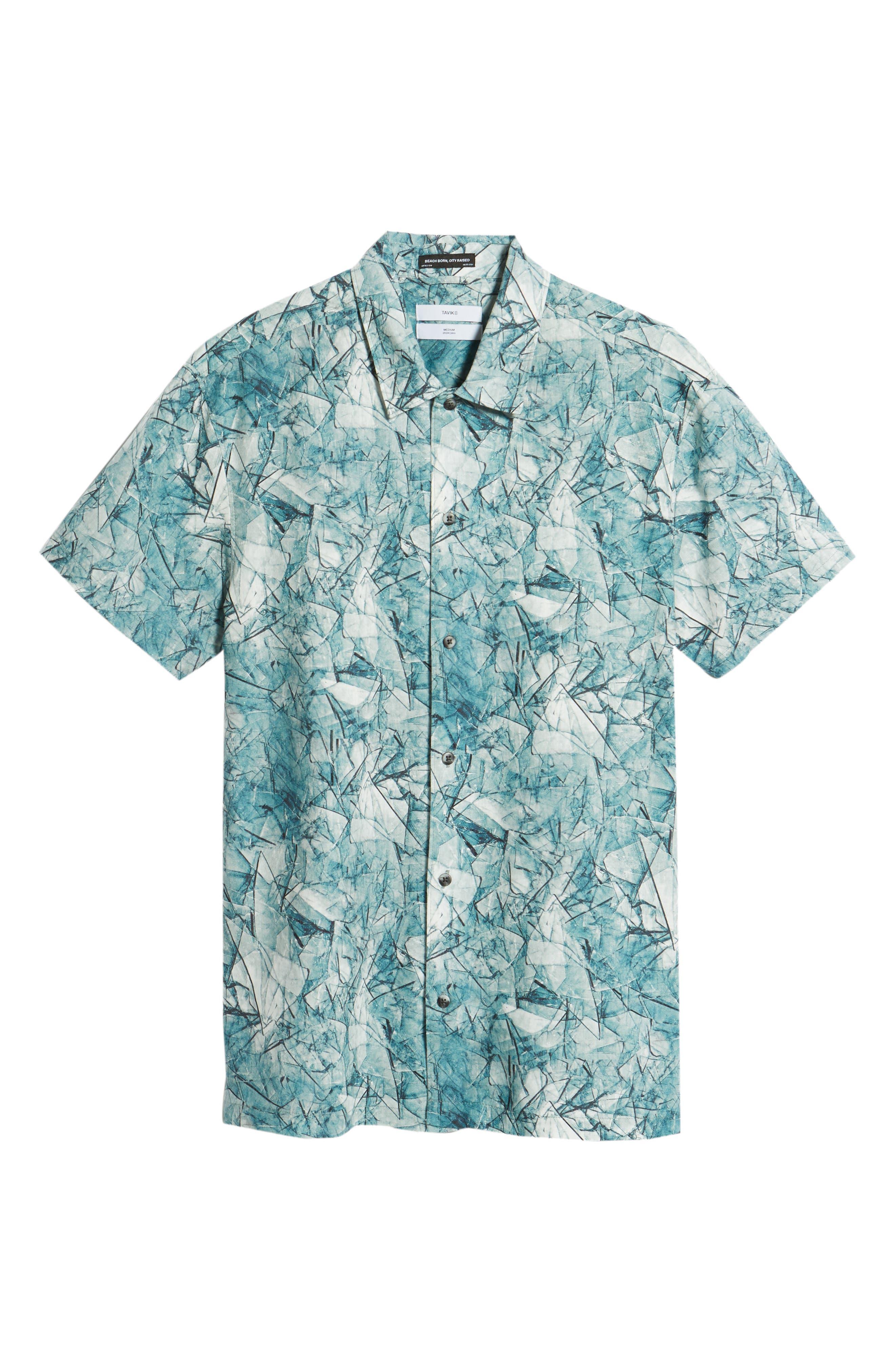 Shoto Short Sleeve Shirt,                             Alternate thumbnail 6, color,                             SHATTERED BLUE
