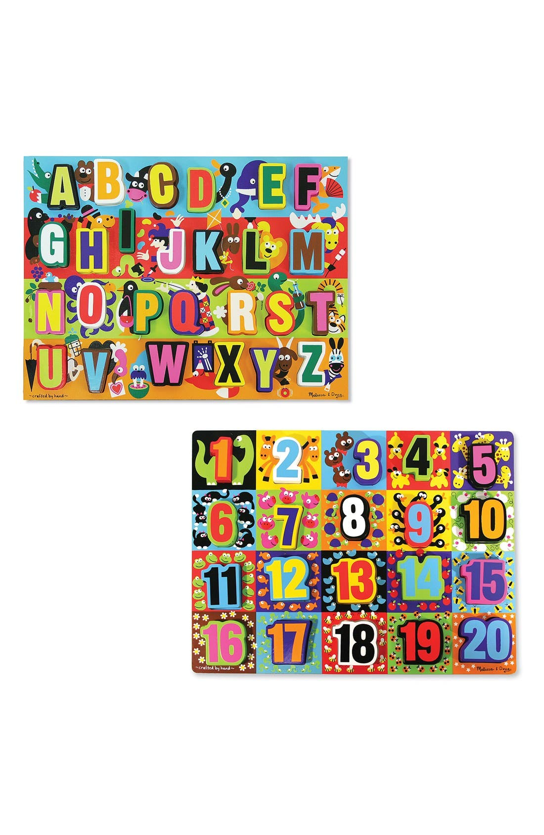 Chunky Wooden Letter and Number Puzzles,                             Main thumbnail 1, color,                             960