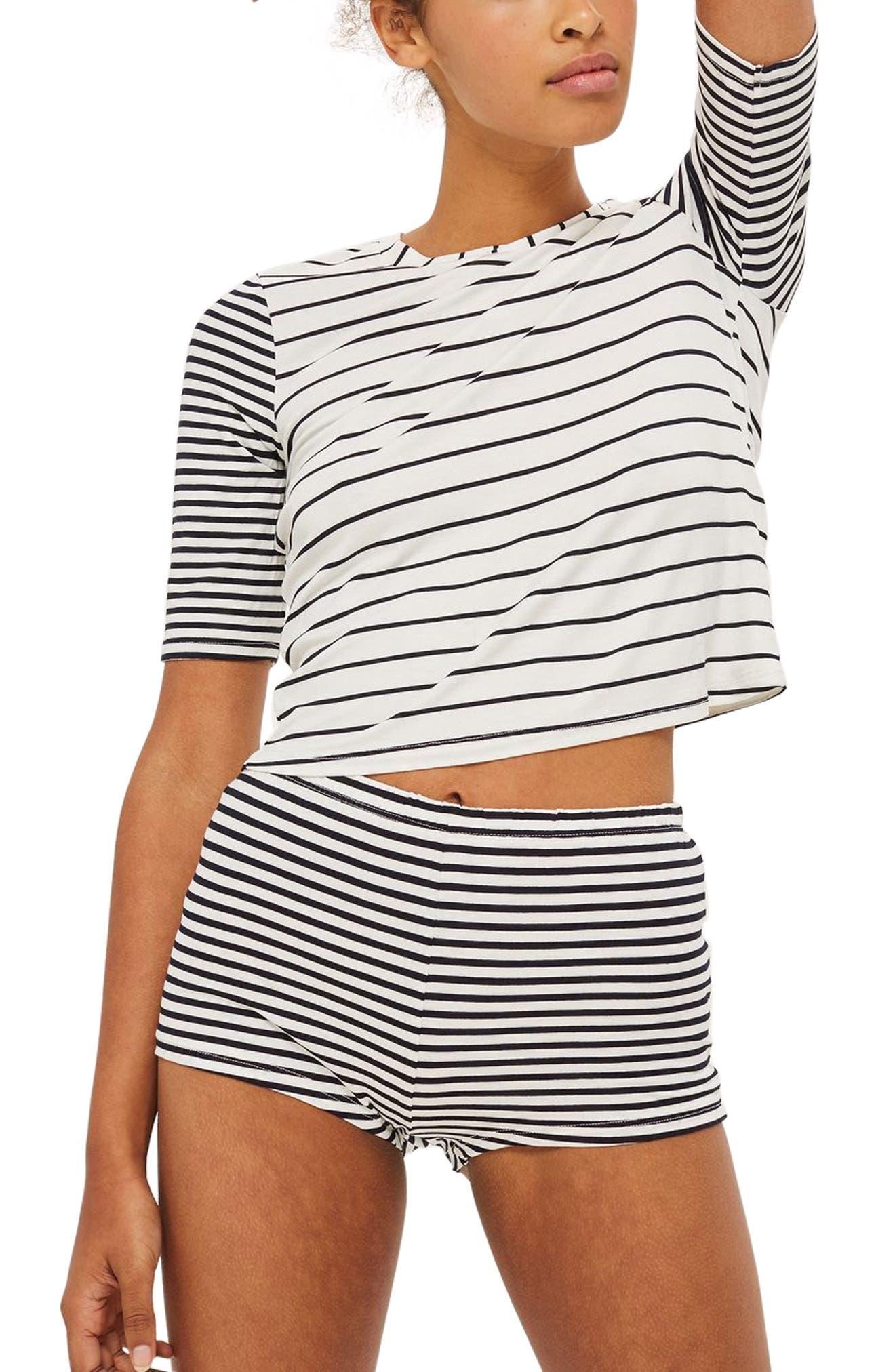 Harriet Contrast Stripe Pajamas,                             Main thumbnail 1, color,