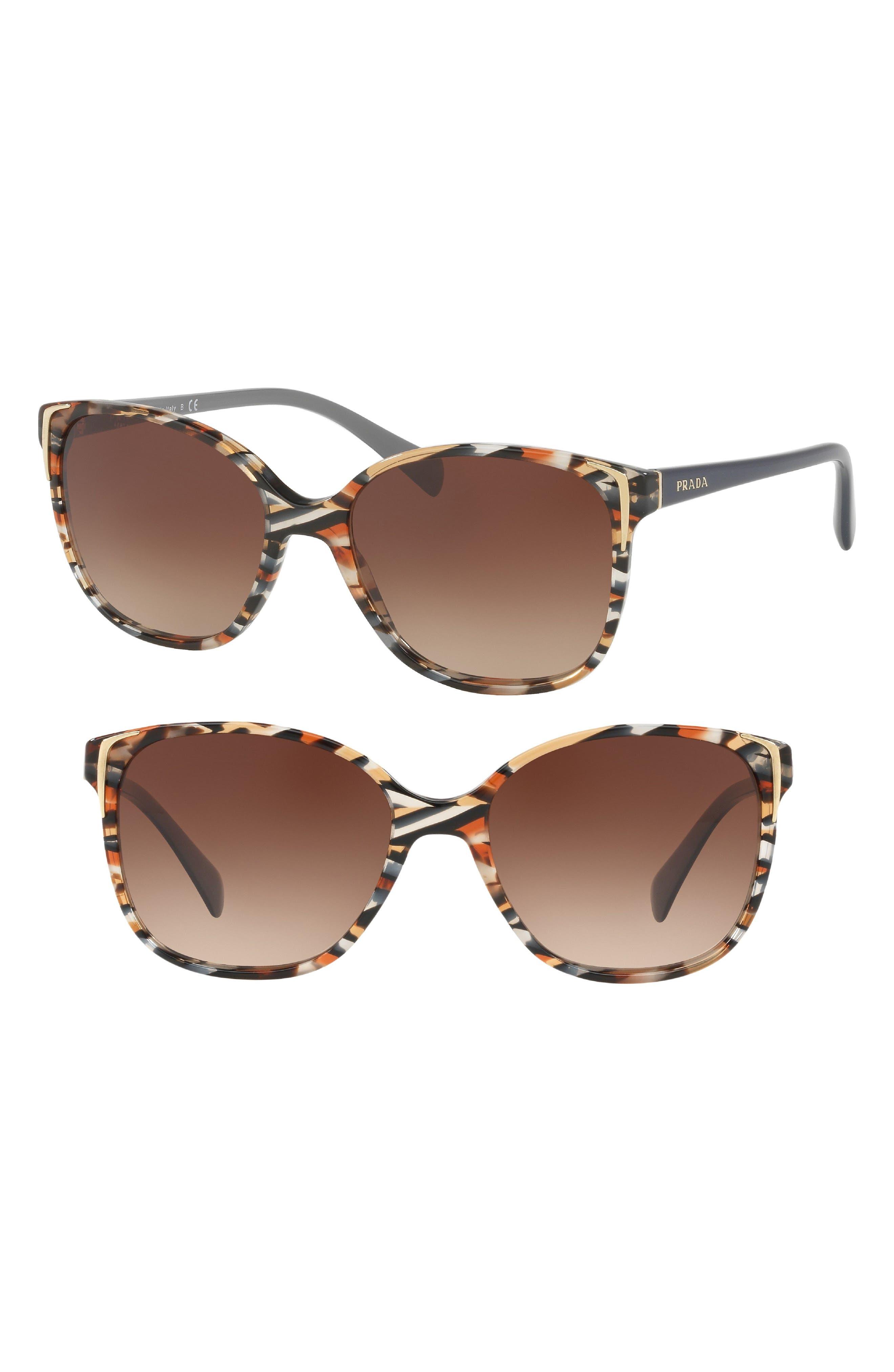 55mm Polarized Cat Eye Sunglasses,                             Alternate thumbnail 2, color,                             HAVANA