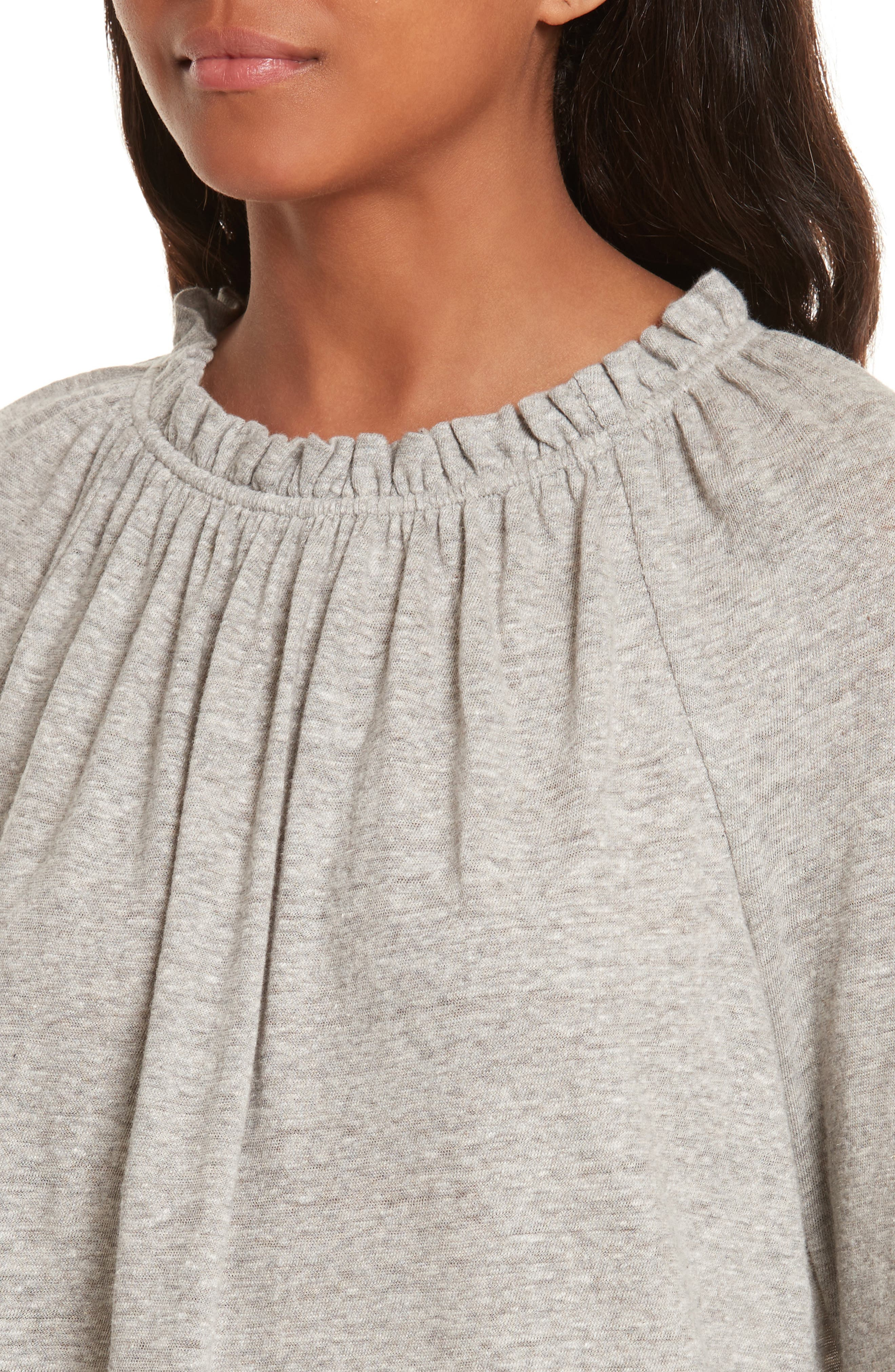 Ruffle Neck Top,                             Alternate thumbnail 4, color,                             038
