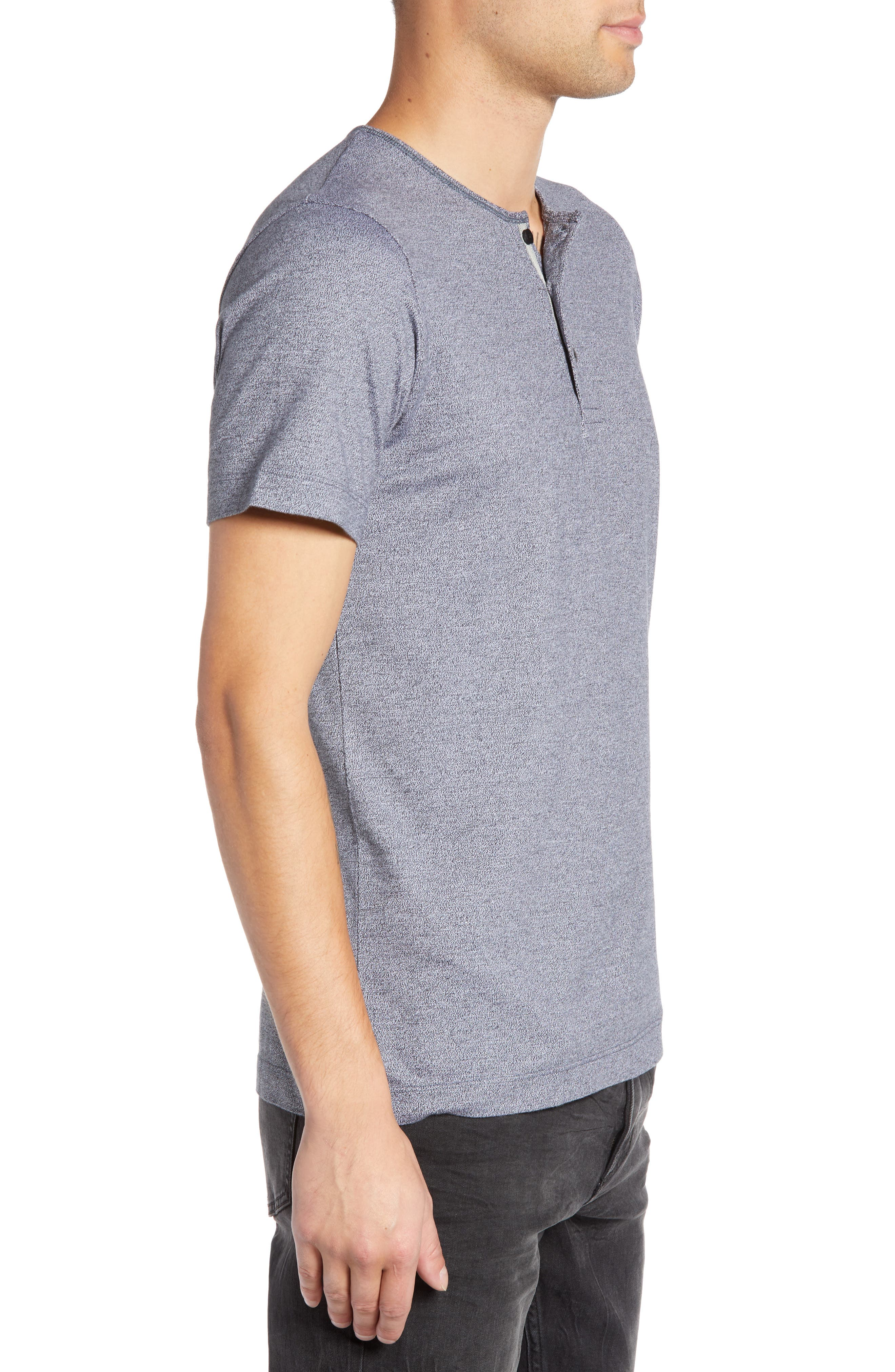 WINGS + HORNS,                             Marled Henley T-Shirt,                             Alternate thumbnail 3, color,                             014