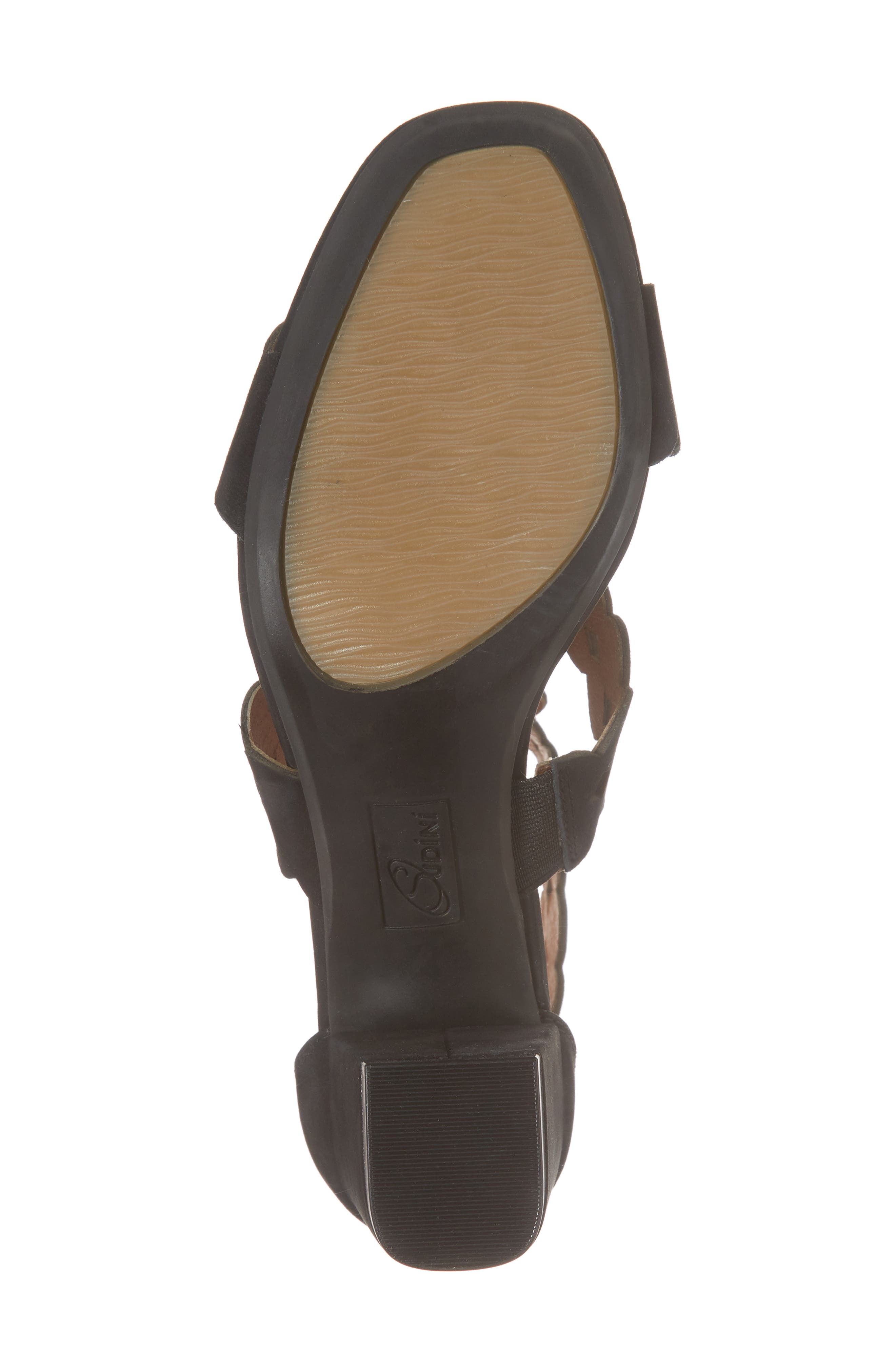 SUDINI,                             Novara Block Heel Sandal,                             Alternate thumbnail 6, color,                             BLACK NUBUCK LEATHER