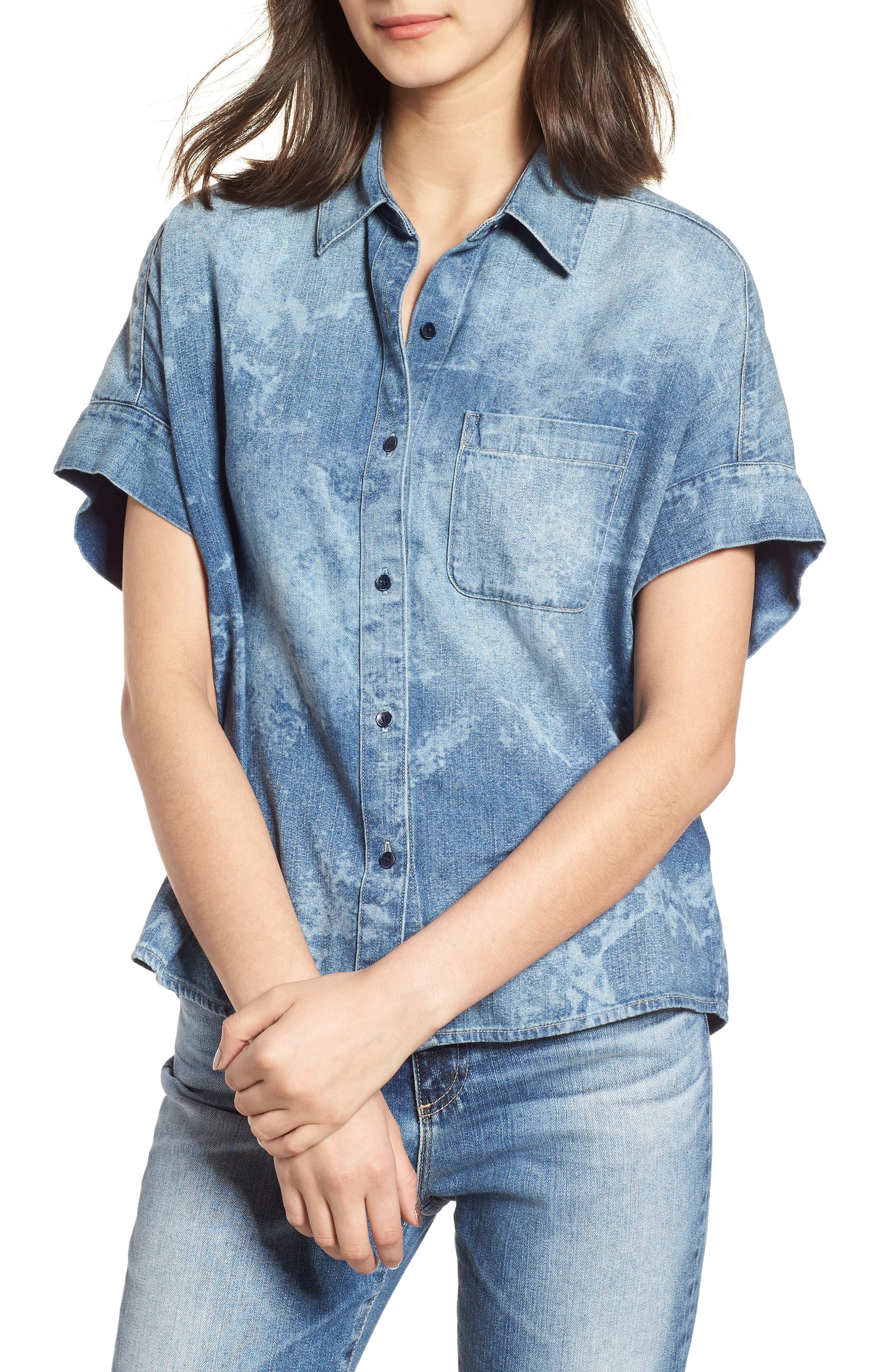 Hadley Denim Shirt,                         Main,                         color, SUBLIME