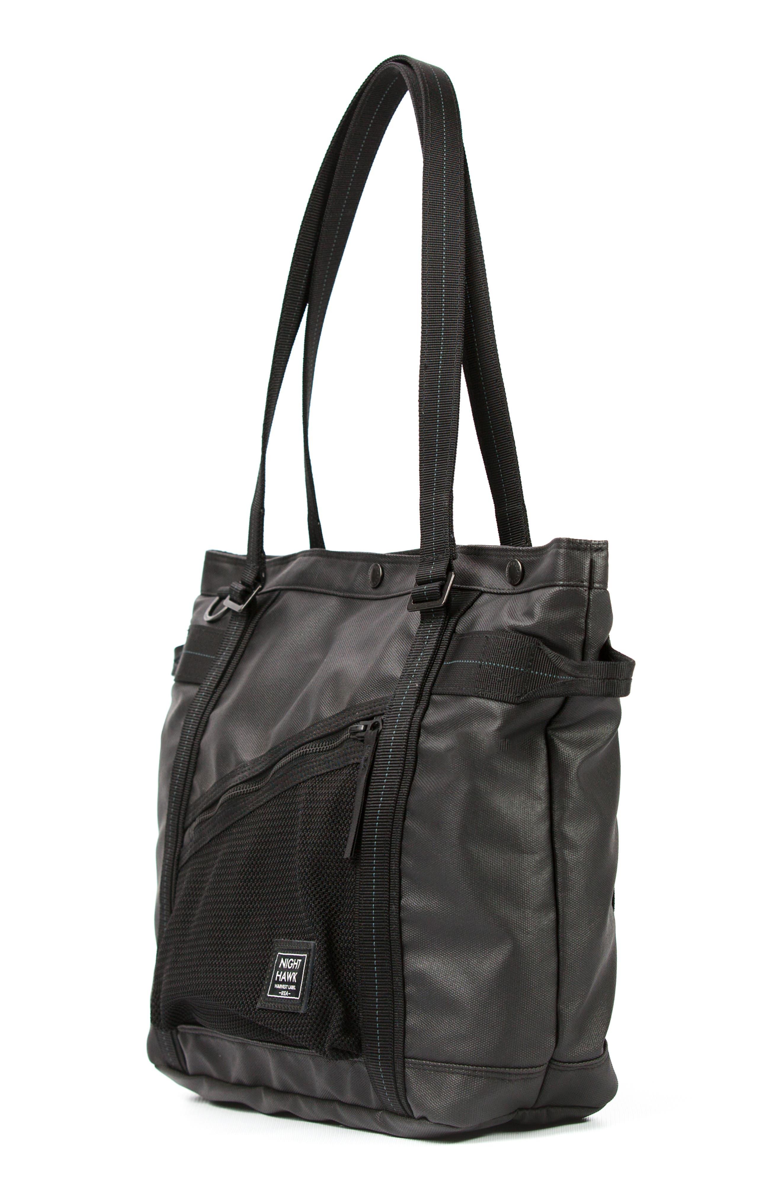 'NightHawk' Tote Bag,                             Alternate thumbnail 5, color,                             BLACK