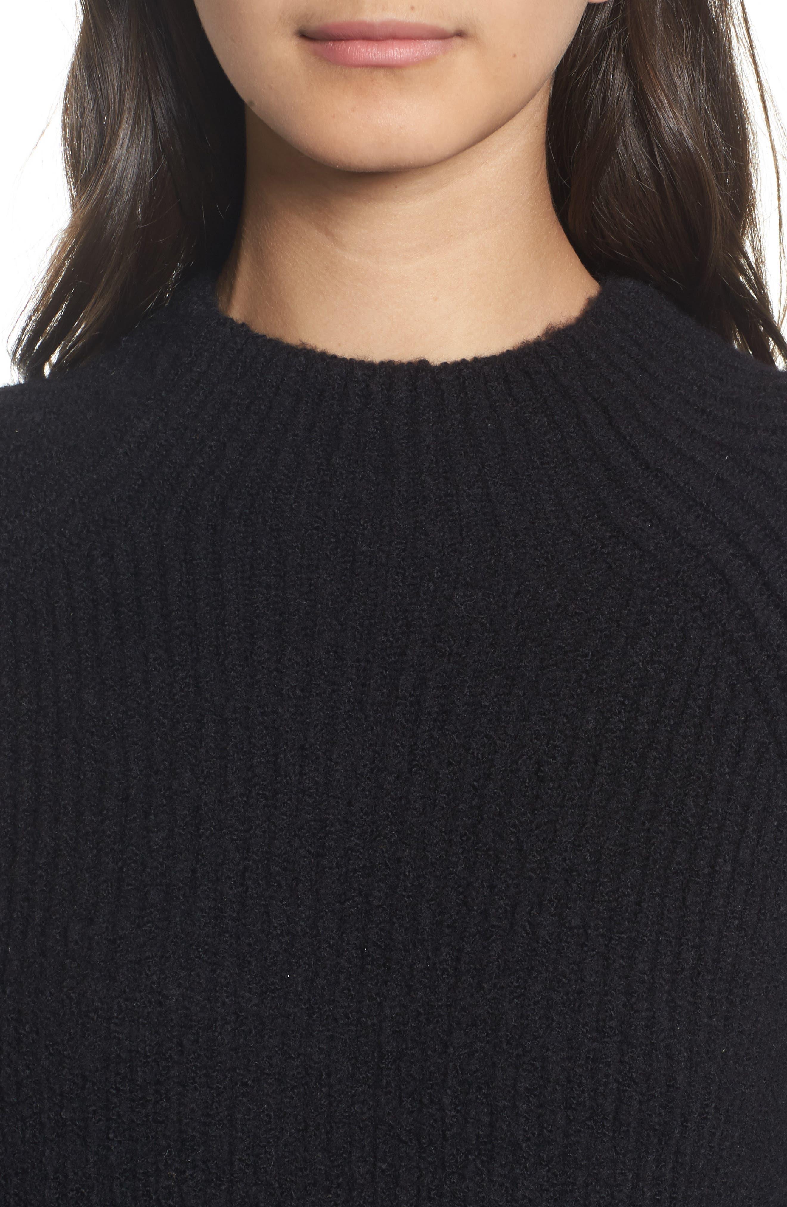 Northfield Mock Neck Sweater,                             Alternate thumbnail 4, color,                             001