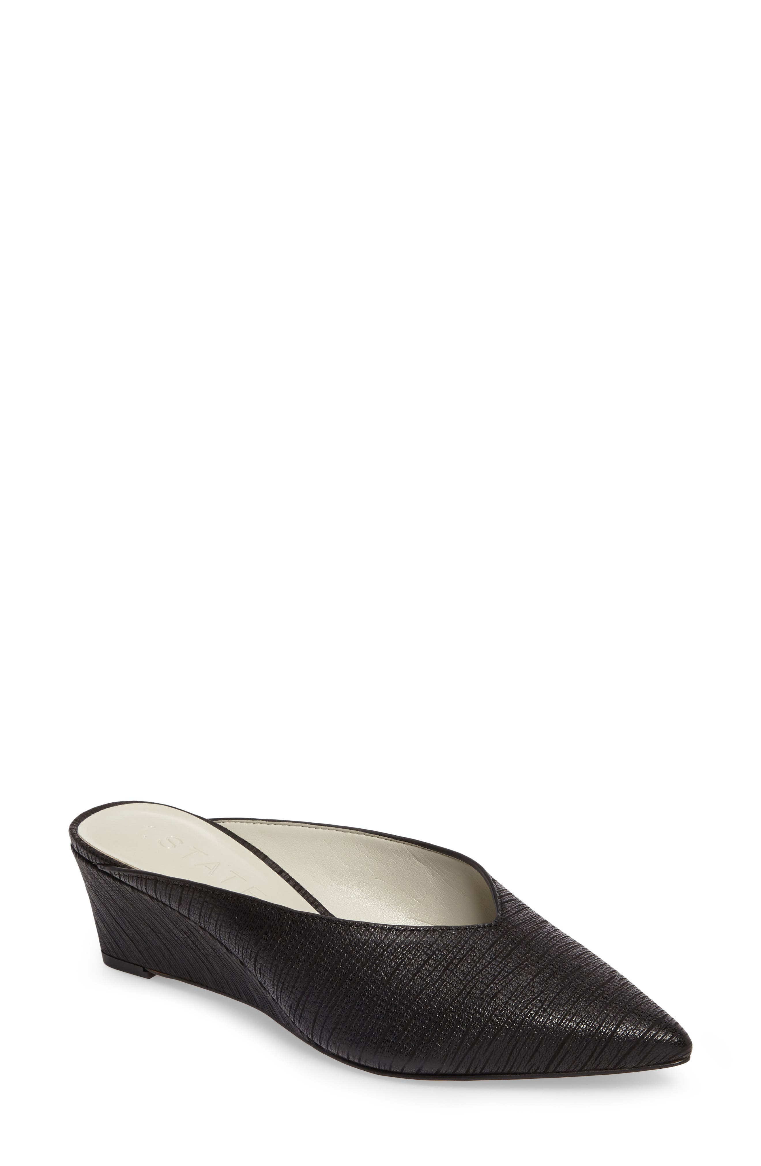 1.STATE,                             Leanne Mule,                             Main thumbnail 1, color,                             BLACK LEATHER
