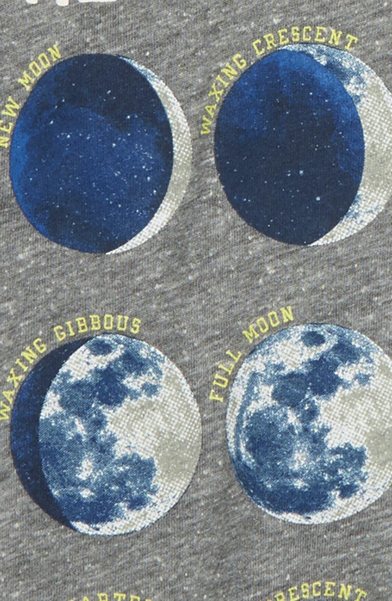 PEEK AREN'T YOU CURIOUS,                             Moon & Back Glow in the Dark Raglan T-Shirt,                             Alternate thumbnail 3, color,                             020