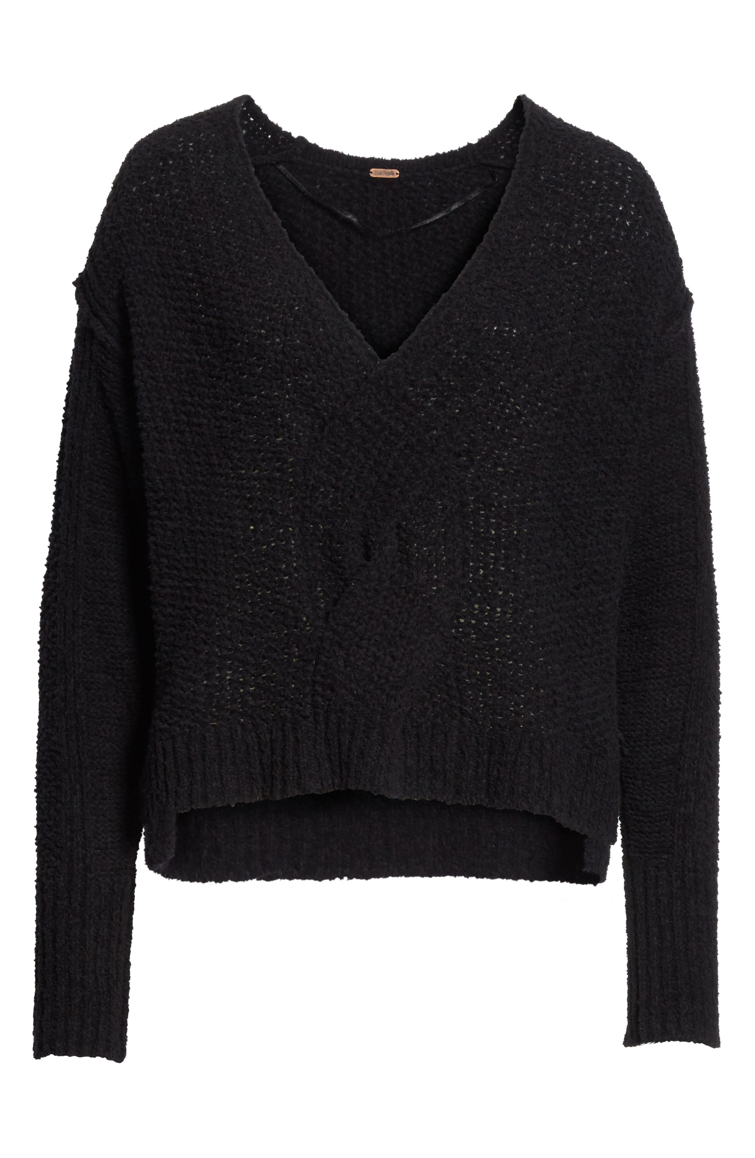 Coco V-Neck Sweater,                             Alternate thumbnail 6, color,                             001