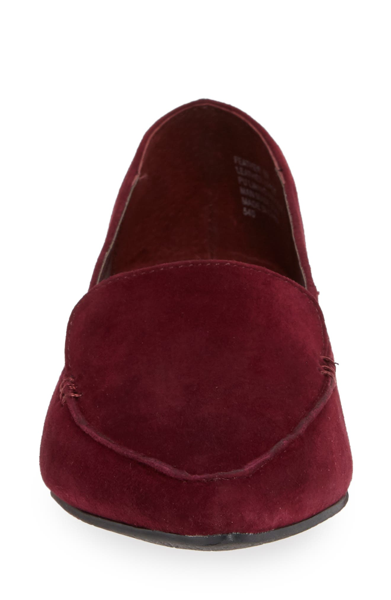 Feather Loafer Flat,                             Alternate thumbnail 4, color,                             BURGUNDY
