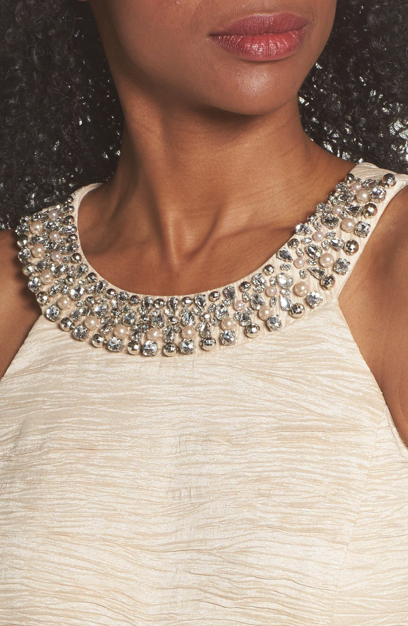 Embellished Crushed Taffeta Sheath Dress,                             Alternate thumbnail 4, color,                             250