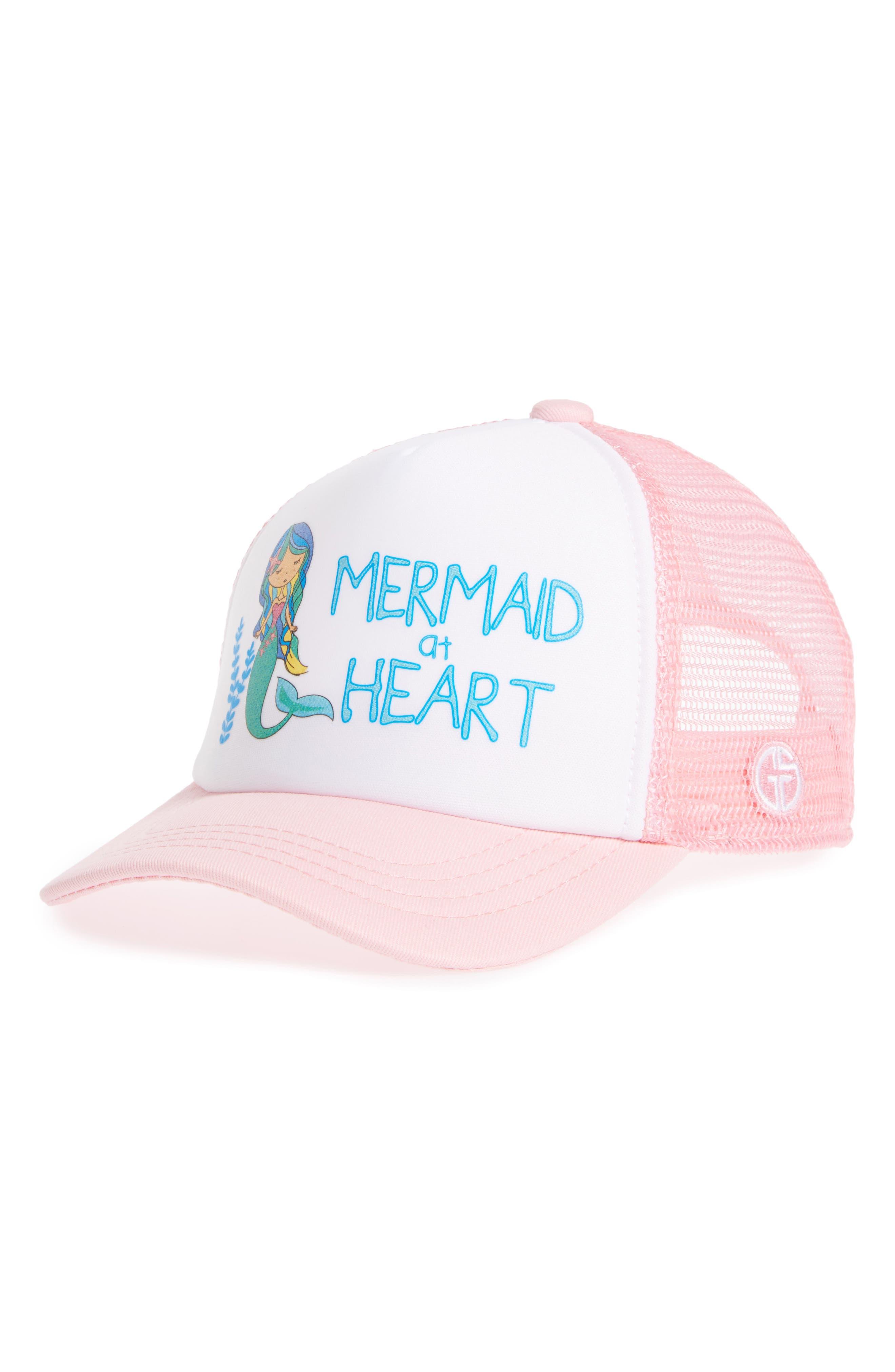 Trucker Hat,                             Main thumbnail 1, color,                             MERMAID AT HEART