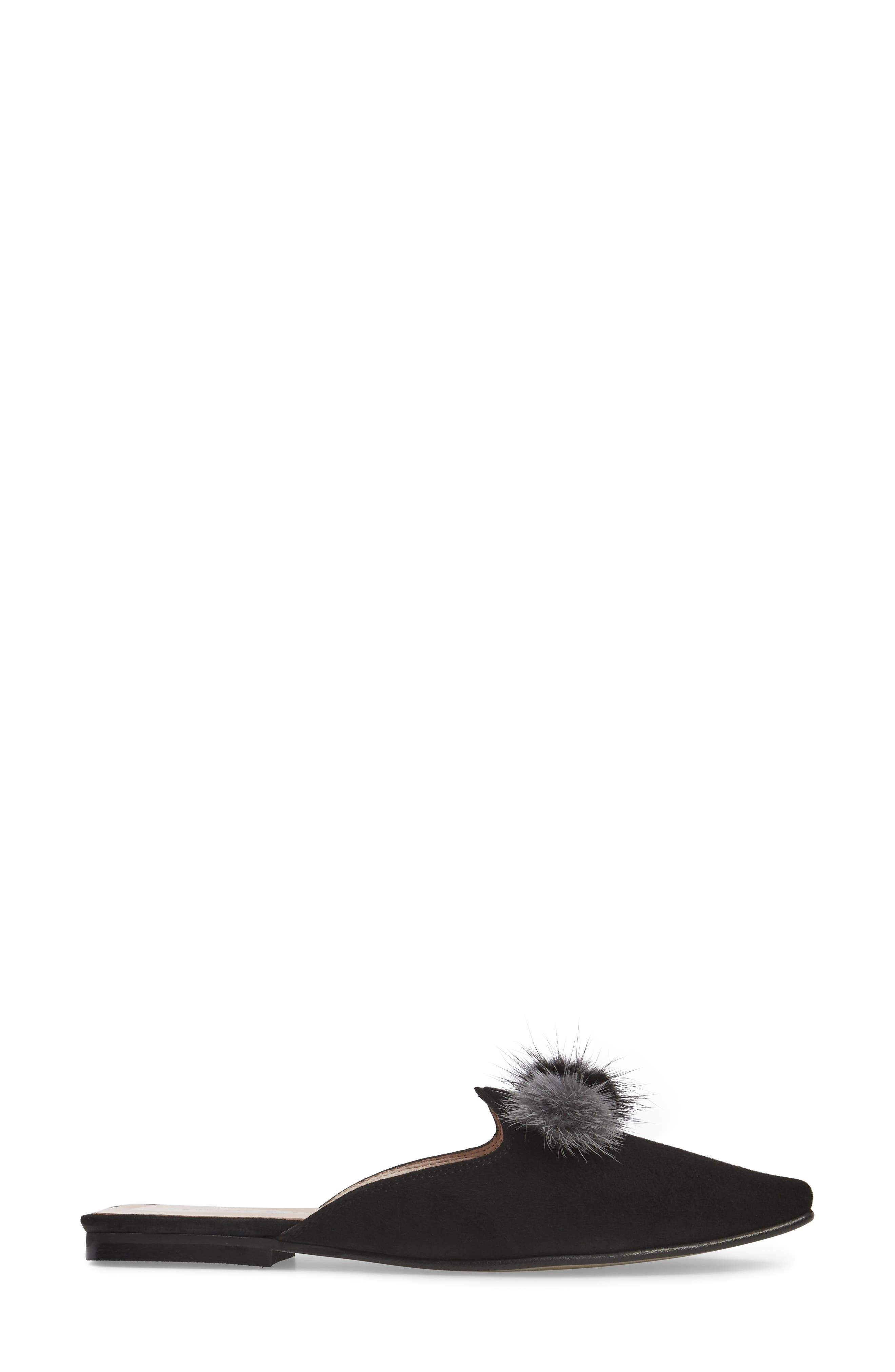 Cerise Genuine Fur Mule,                             Alternate thumbnail 5, color,